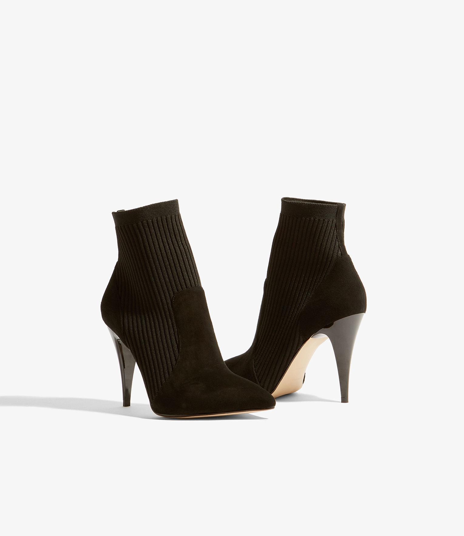 444513584f8b Karen Millen - Black Knitted Stretch Boot - Lyst. View fullscreen