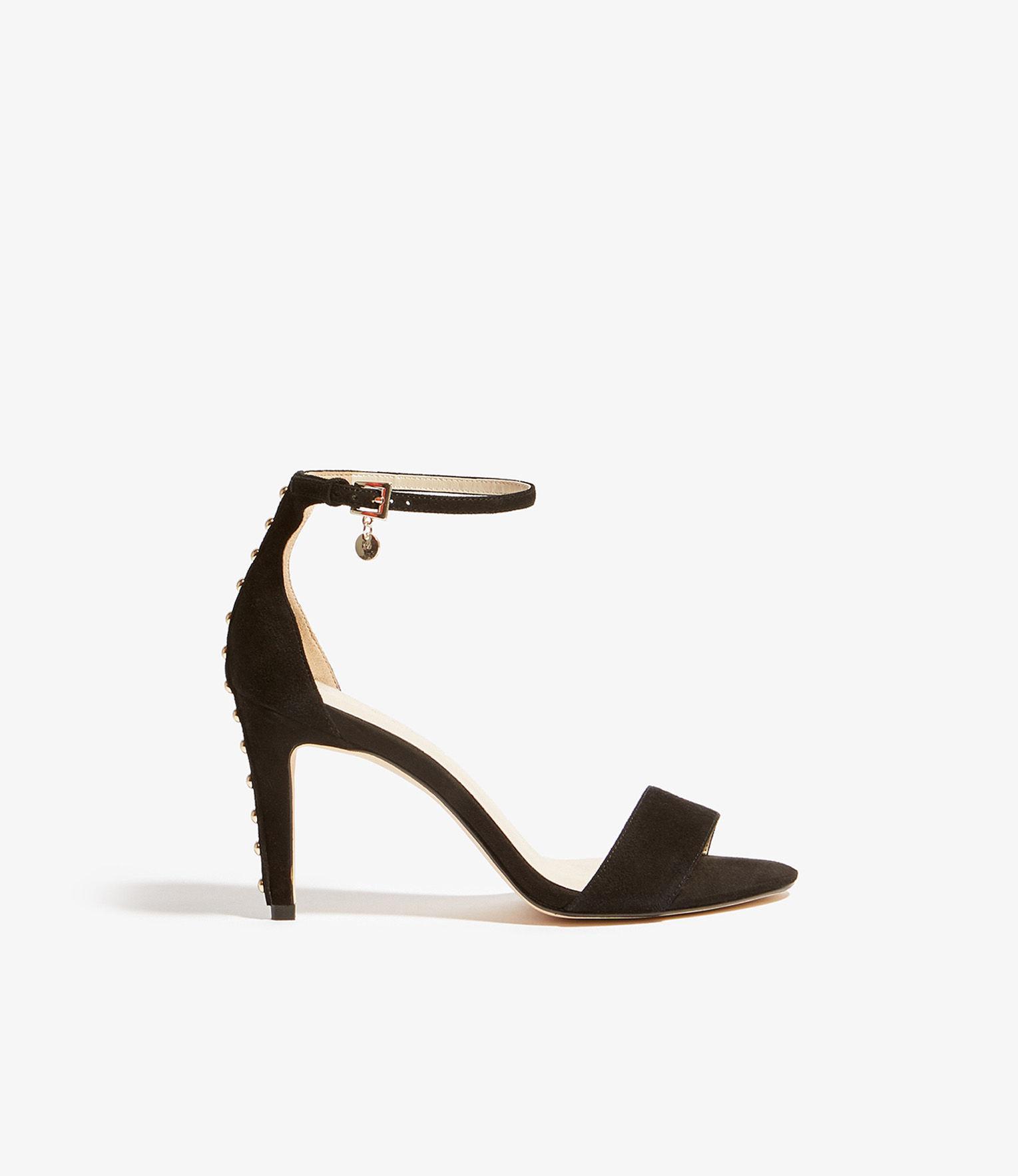 d112f2fd95d Karen Millen Studded Heeled Sandals in Black - Save 70% - Lyst