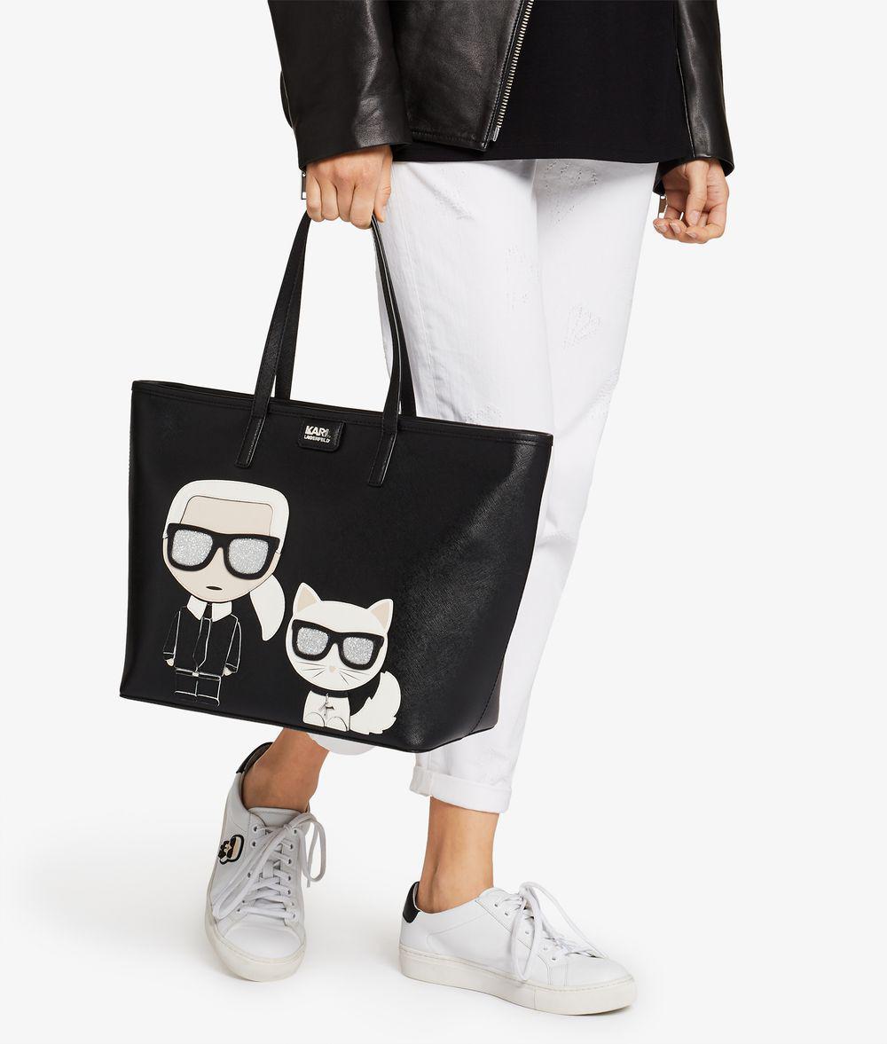 8b2bd705f829 Karl Lagerfeld K/ikonik Shopper in Black - Save 22% - Lyst