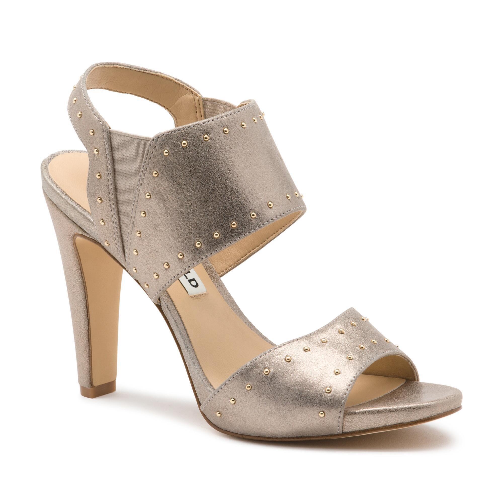 e195bbc5f6f Lyst - Karl Lagerfeld Coquete Studded Sandal in Metallic