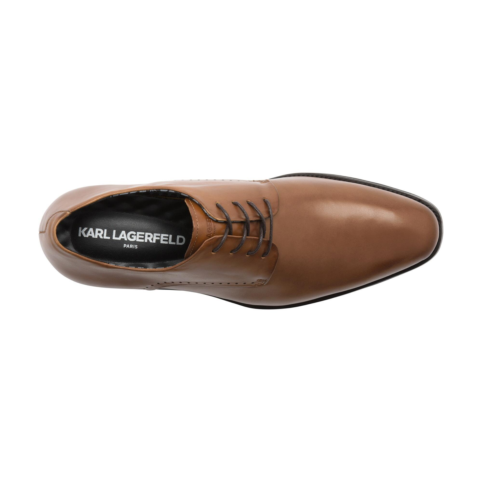 65934cbf36dd ... Brown Burnished Leather Oxford With Perforation for Men - Lyst. View  fullscreen