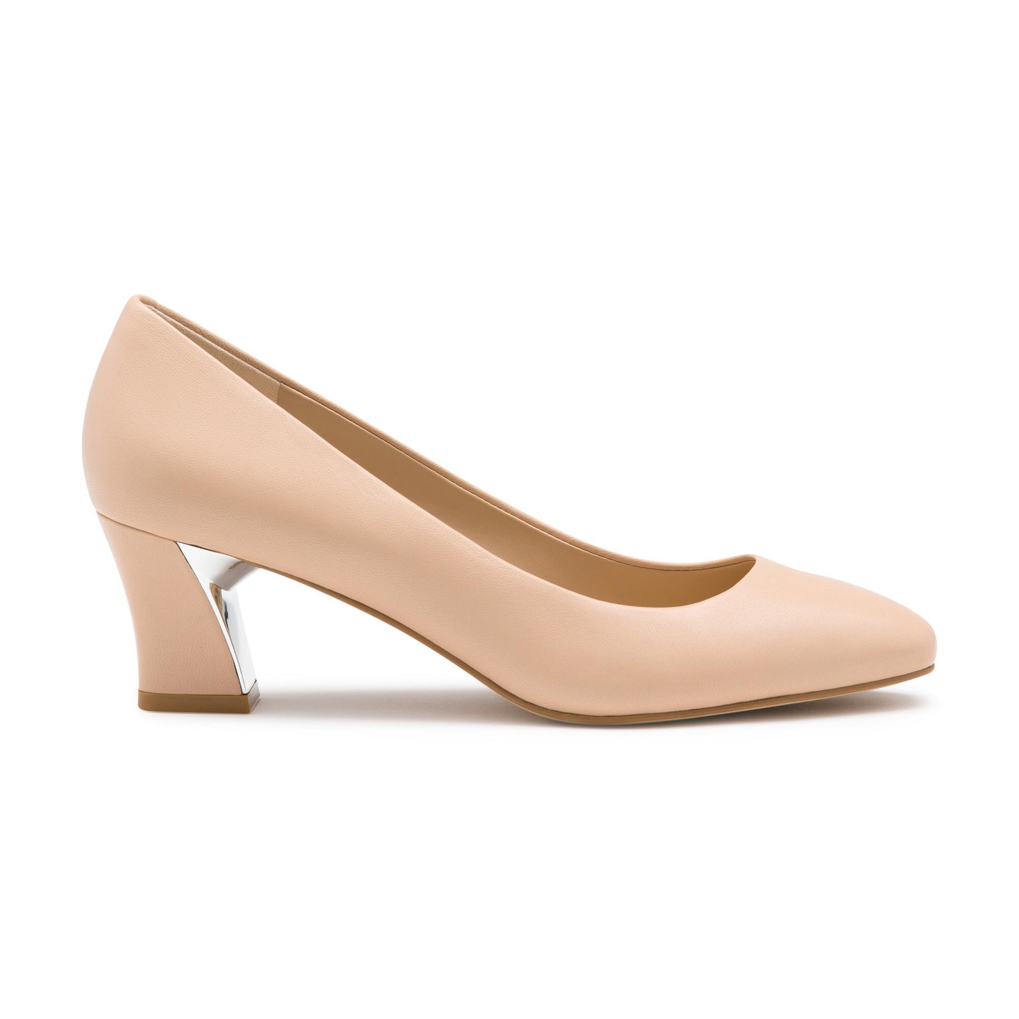 e01afbc6371 Lyst - Karl Lagerfeld Andrea Round Toe Pumps in Natural - Save 36%