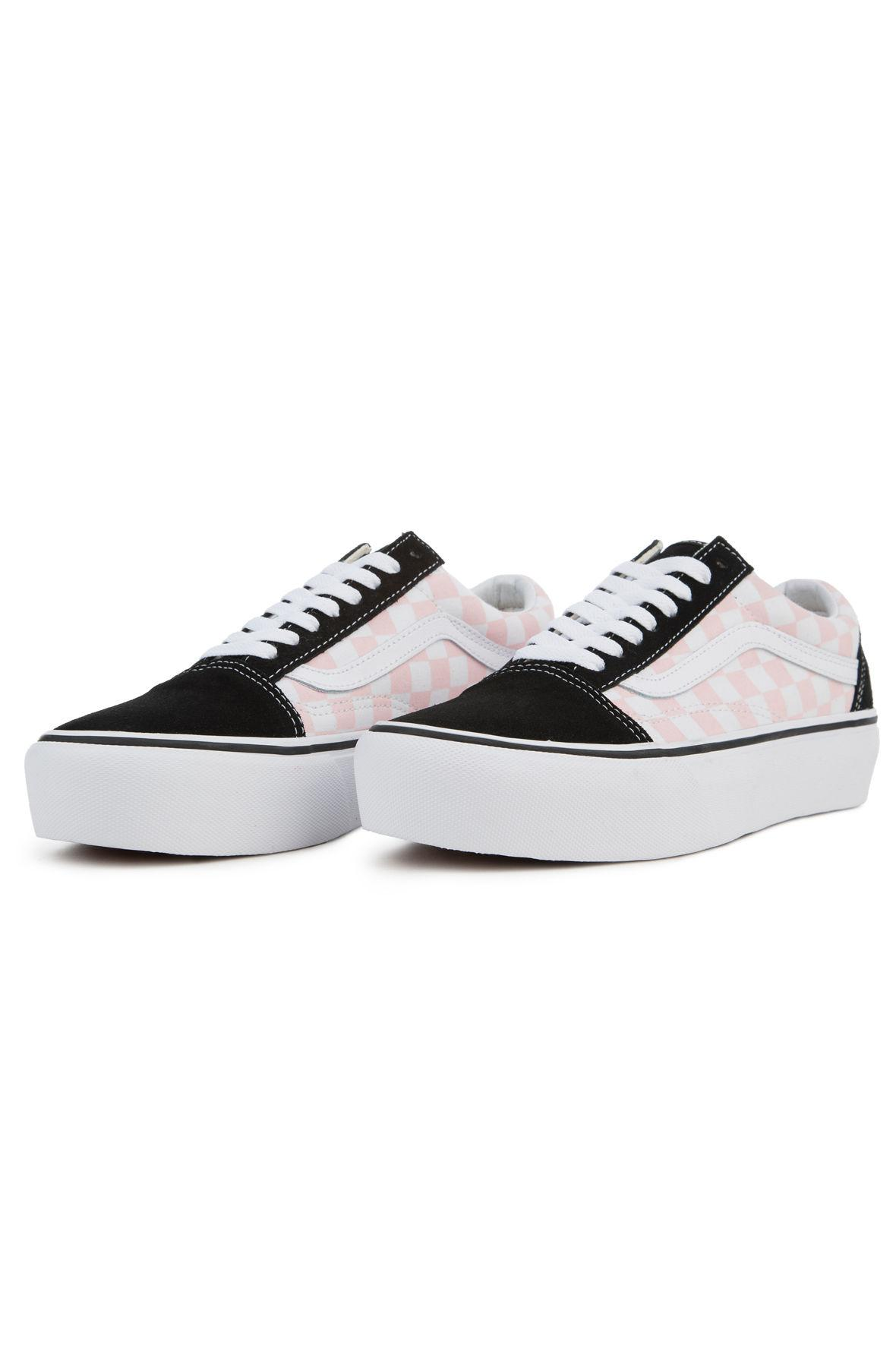 e175801d6d9 Lyst - Vans The Women s Old Skool Platform In Checkerboard Black And ...