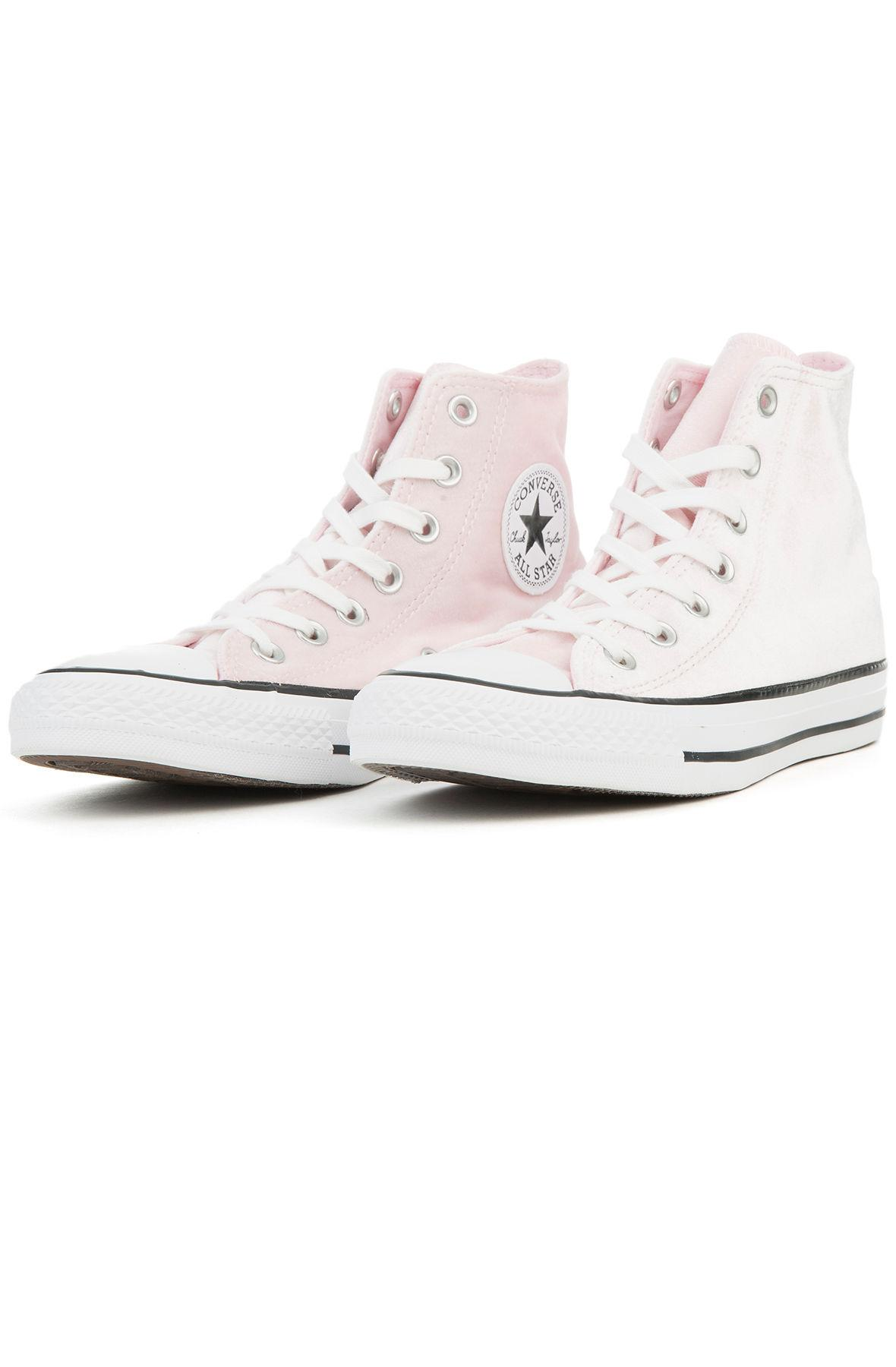 5f4eb05e8235 Lyst - Converse The Chuck Taylor All Star - Hi Velvet In Arctic Pink ...