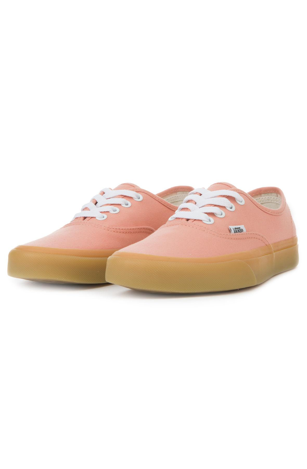 6d00f31a14 Lyst - Vans The Women s Authentic In Muted Clay And Gum in Pink