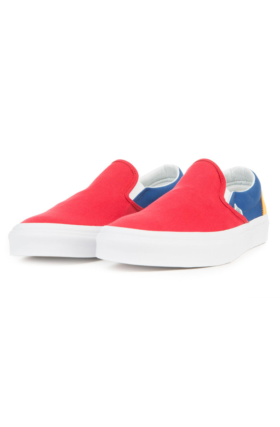 Lyst - Vans The Men s Classic Slip-on In Yacht Club Red  Blue And ... 008a0c1e9