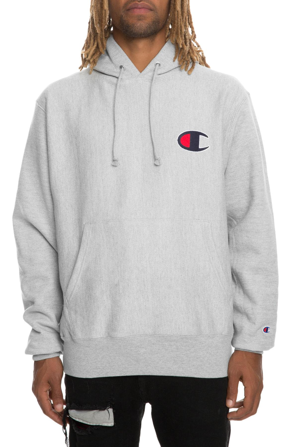 09cb28ce Lyst - Champion The Reverse Weave Sherpa C Pullover Hoodie In Oxford ...
