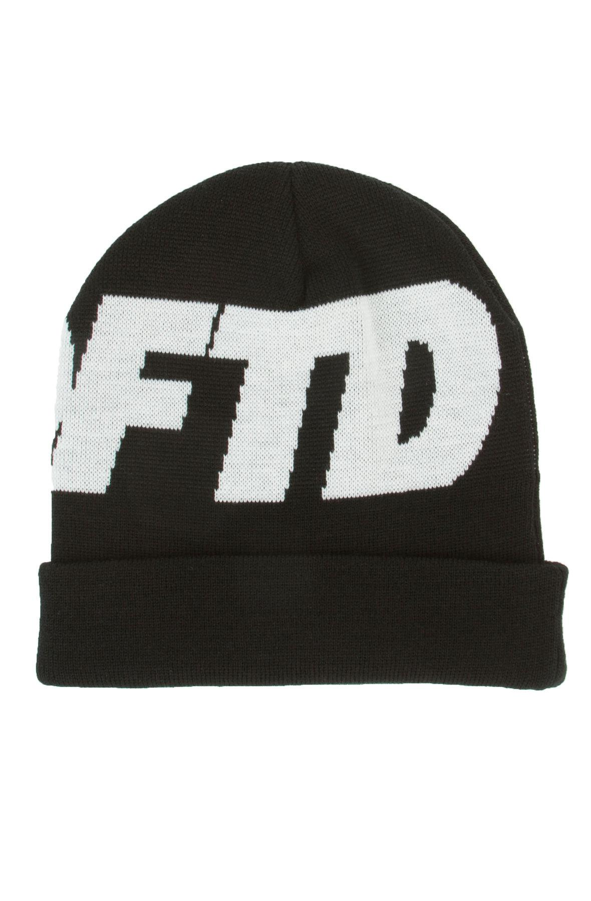 70b0844d47b Lyst - Undefeated The Undftd Logo Beanie in Black for Men