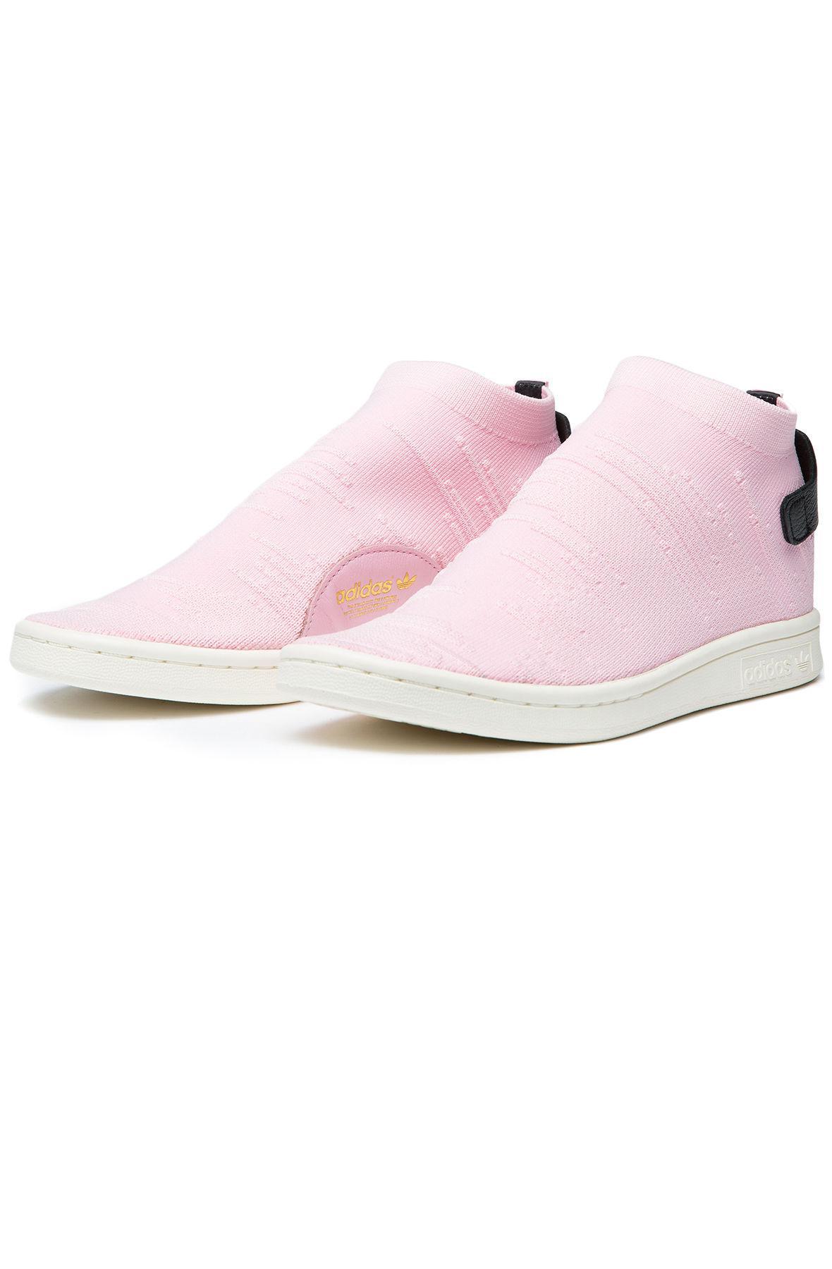Lyst - adidas The Stan Smith Sock Primeknit Women s In Wonder Pink ... 8e160f81e7