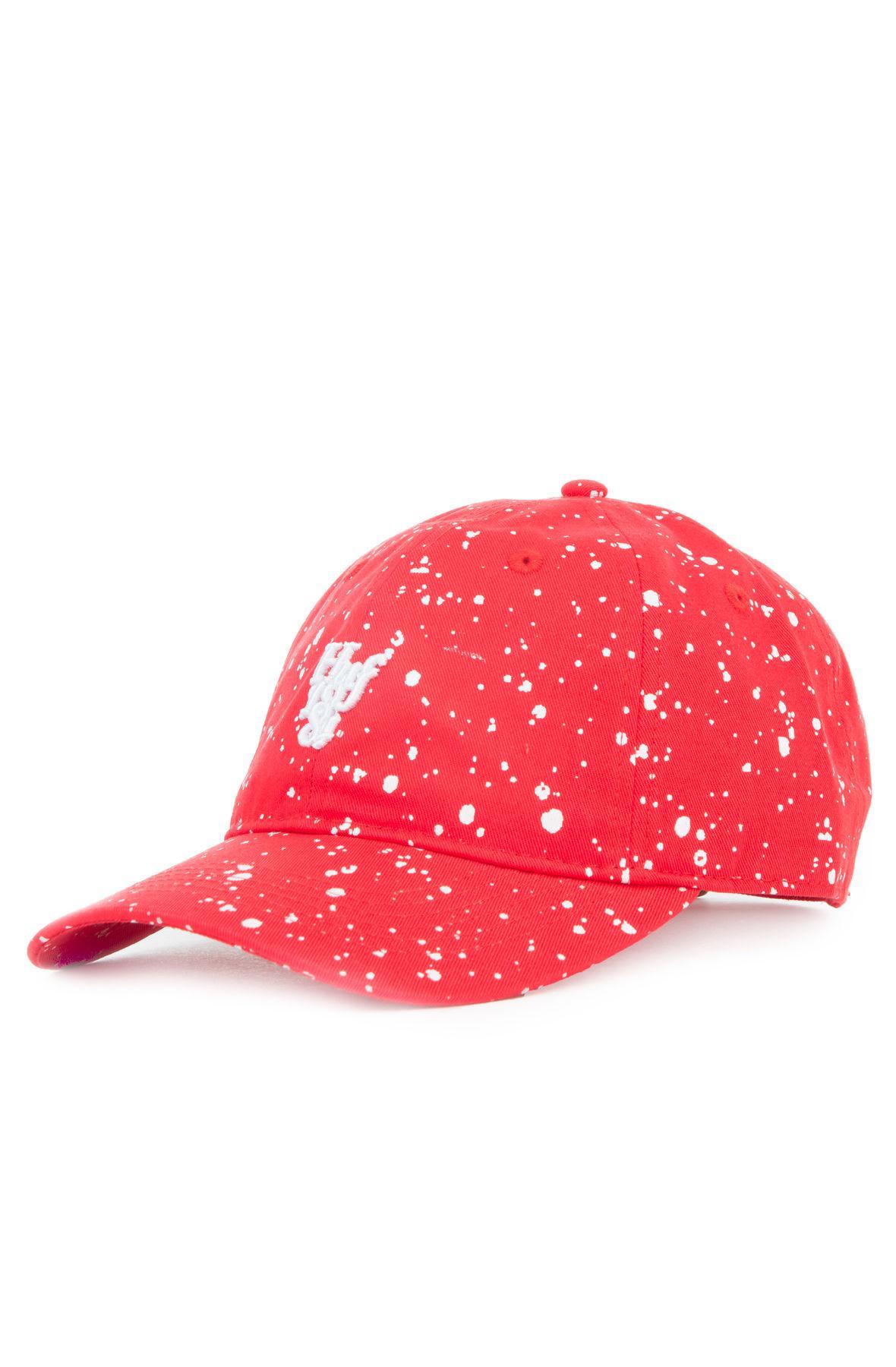 2bcfbb5a7ac Lyst - Huf The Splattered Bleach Curved Visor in Red for Men