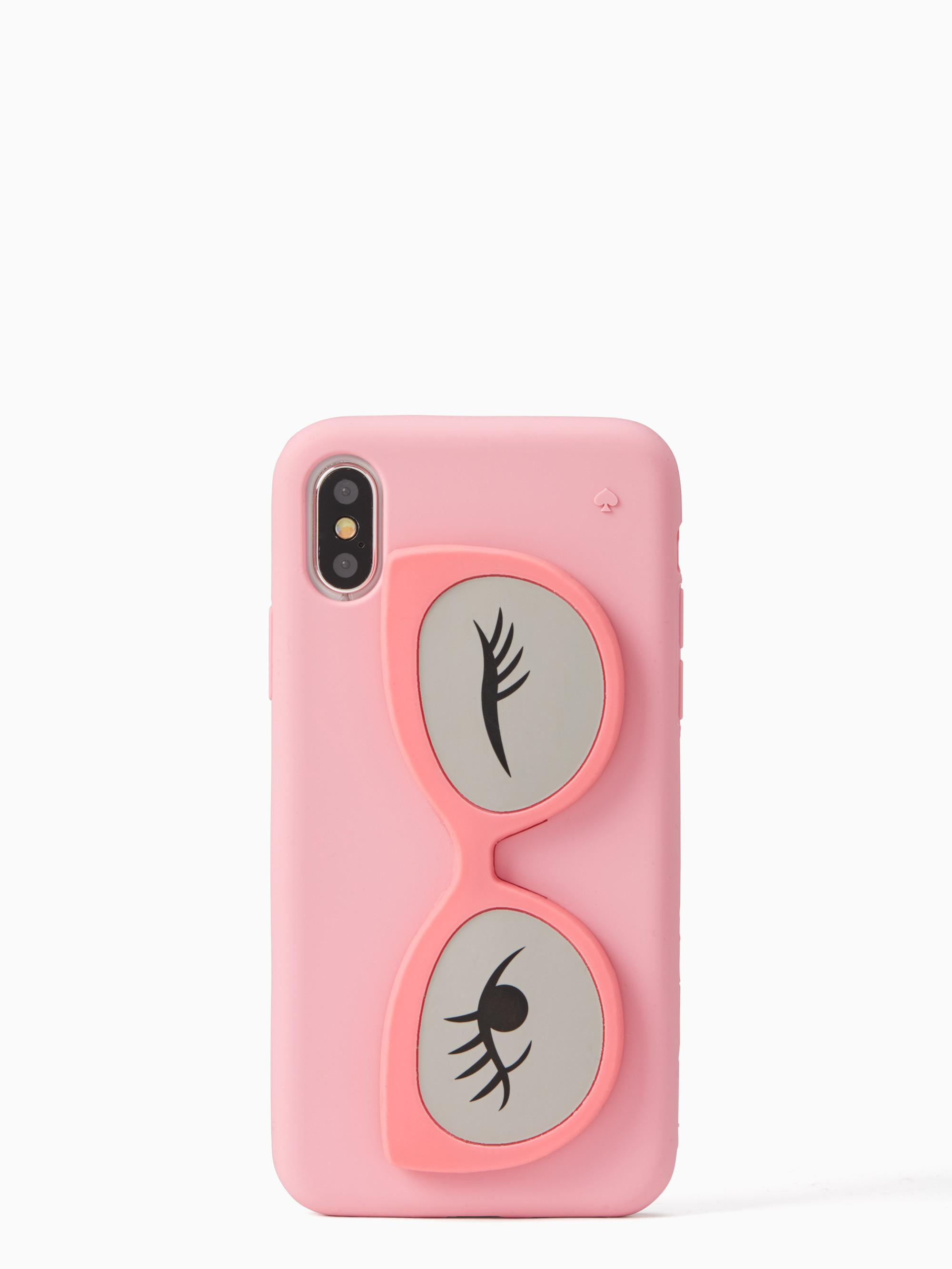 Kate Spade Silicone Sunglass Stand Iphone 8 Case In Pink