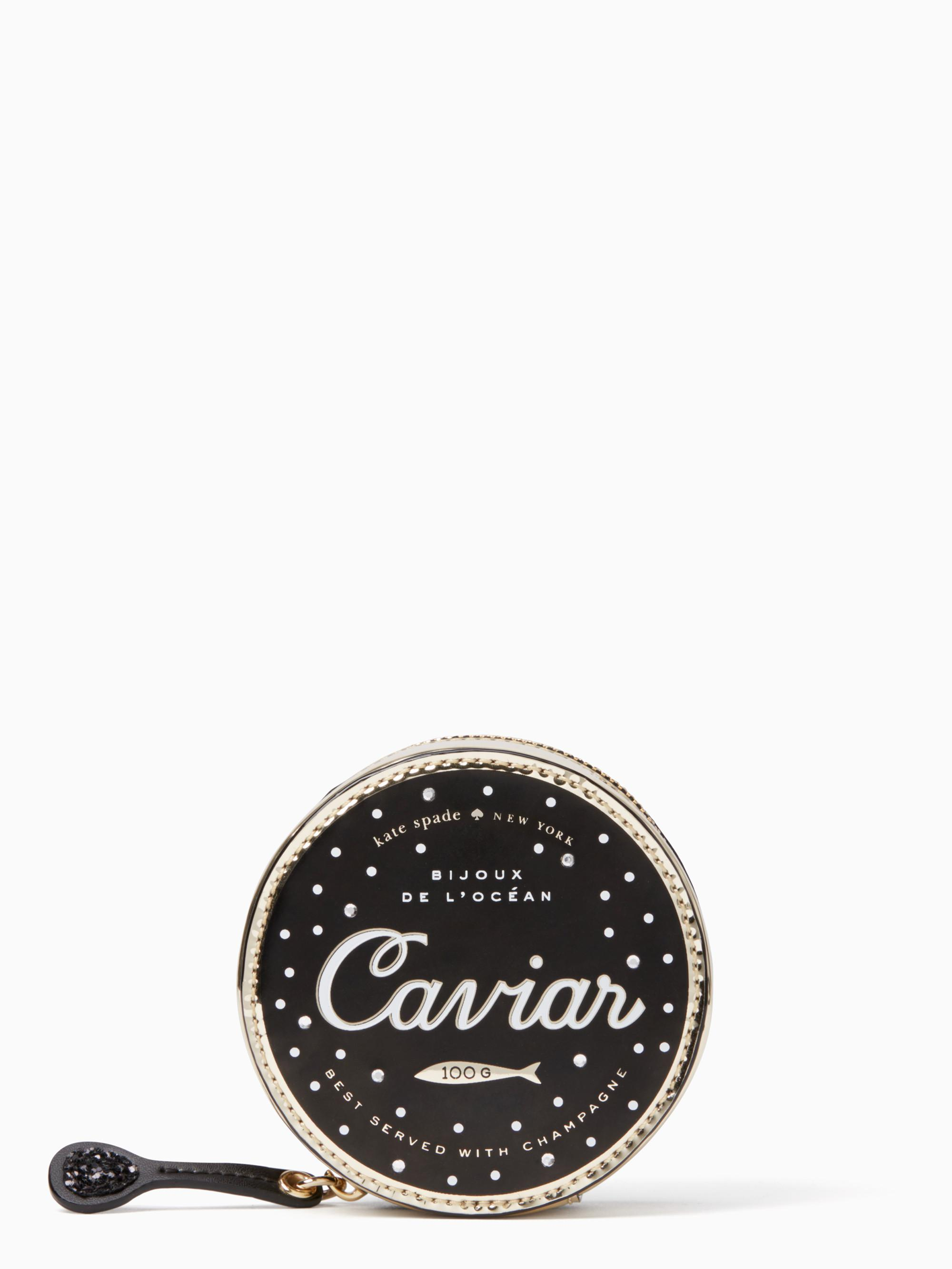 aeddd32ccadc Kate Spade Finer Things Caviar Coin Purse in Black - Lyst