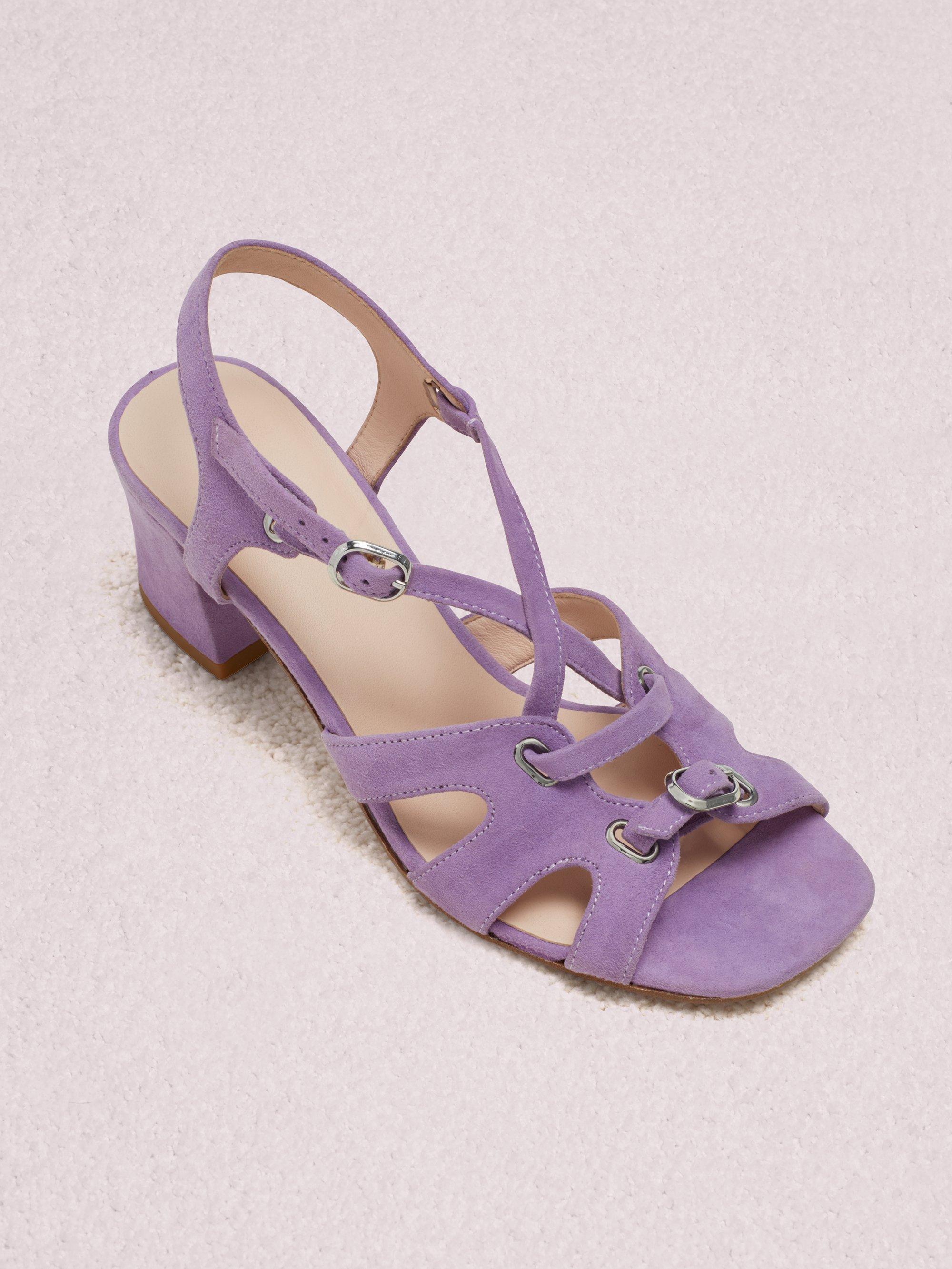 754dcaa7e410 Lyst - Kate Spade Ella Sandals in Purple