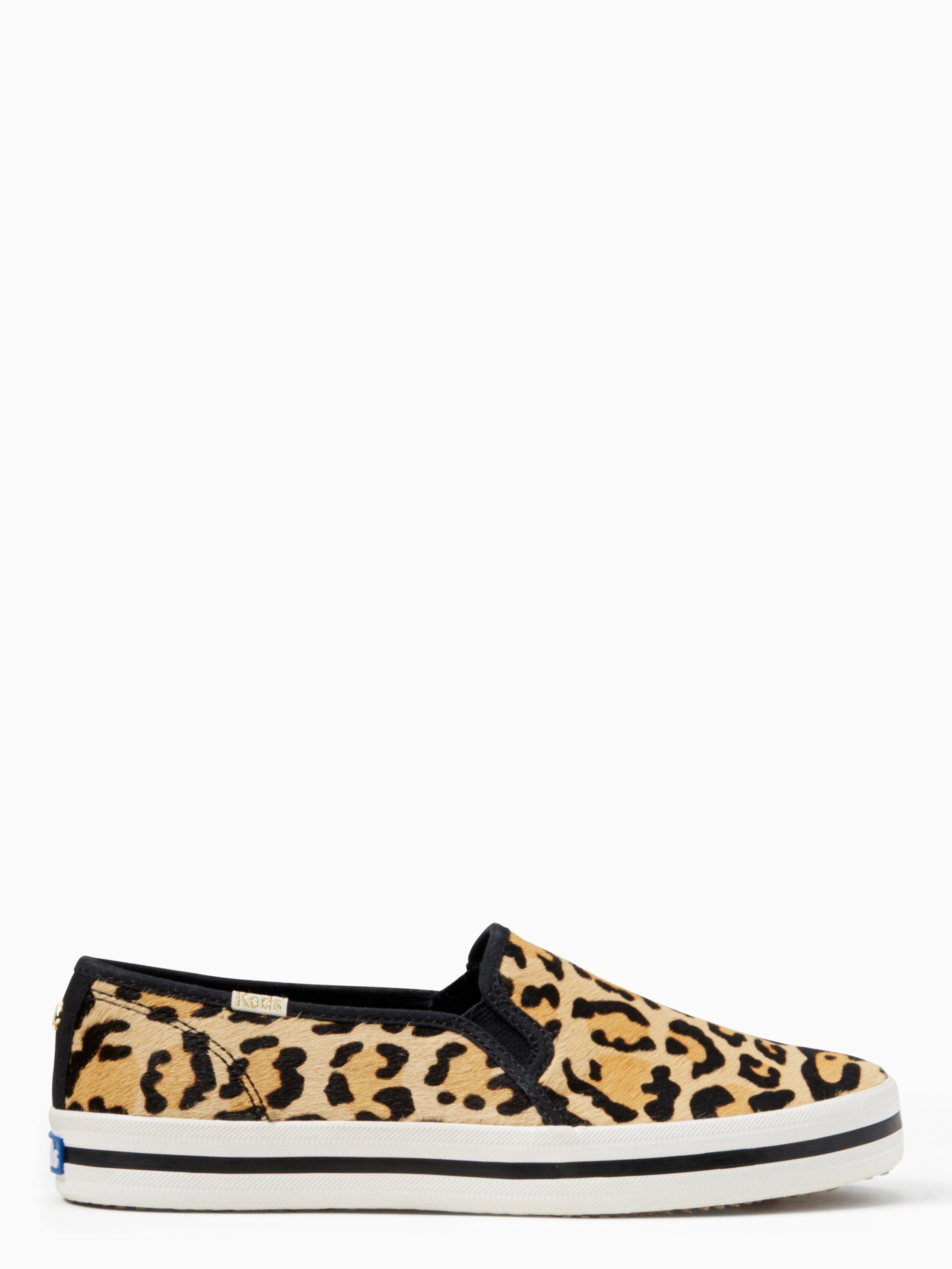 865d3bf7a07e Lyst - Kate Spade Keds X New York Double Decker Leopard-print Sneakers