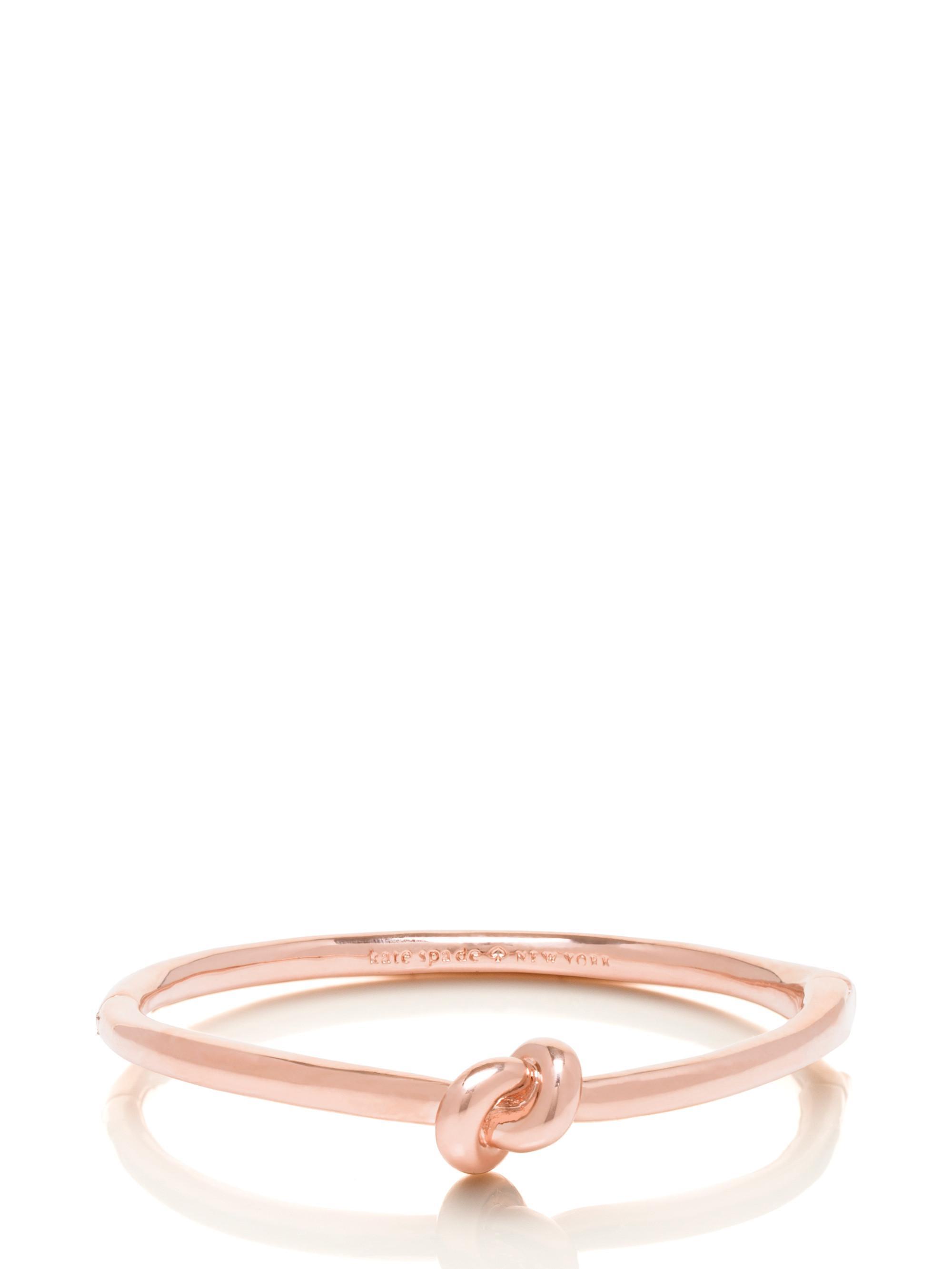 Kate Spade Women S Pink Sailor Knot Hinge Bangle