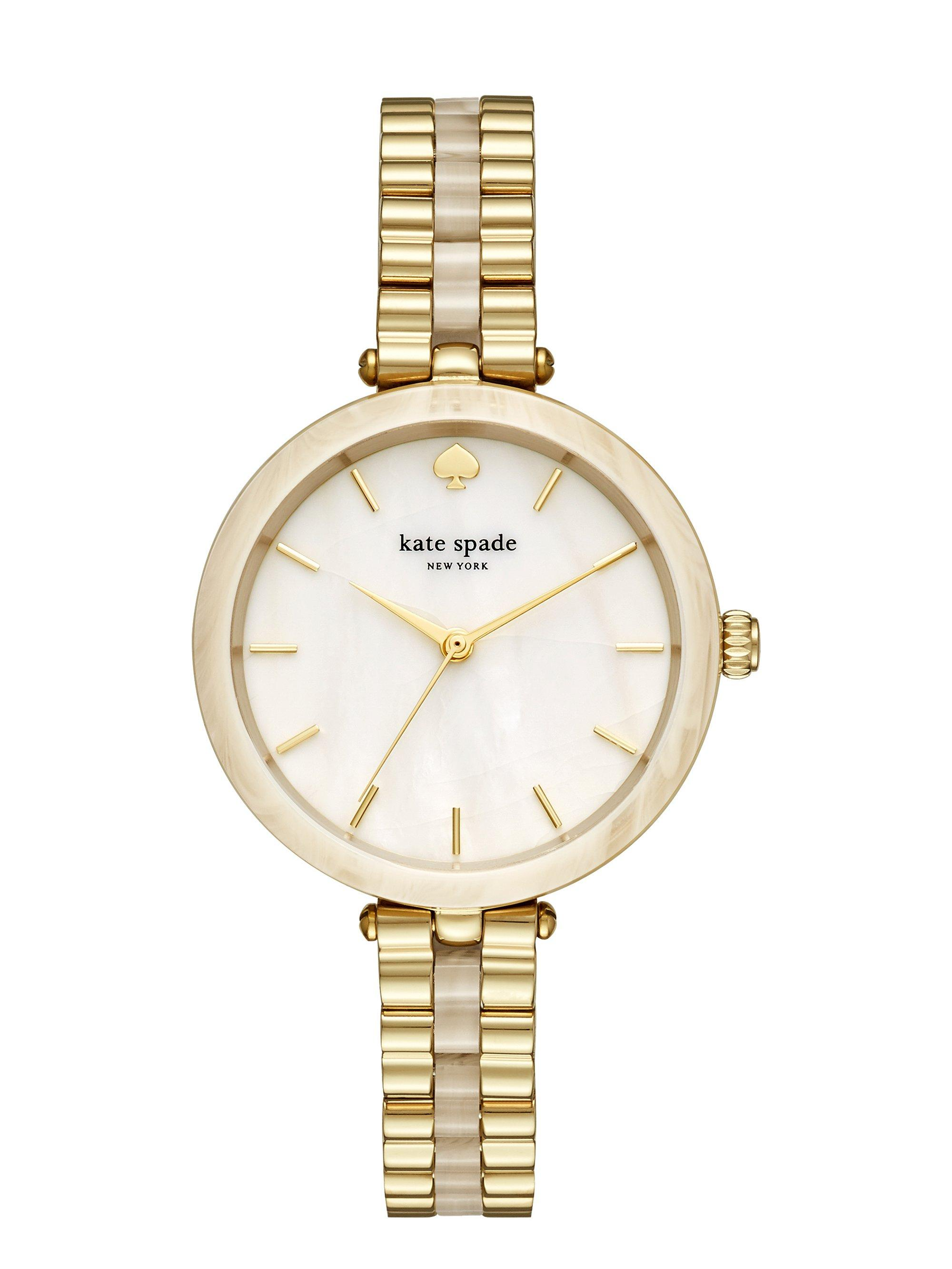 aeb26c73580 Kate Spade - Metallic Women s Holland Gold-tone Stainless Steel   Horn  Acetate Bracelet Watch. View fullscreen