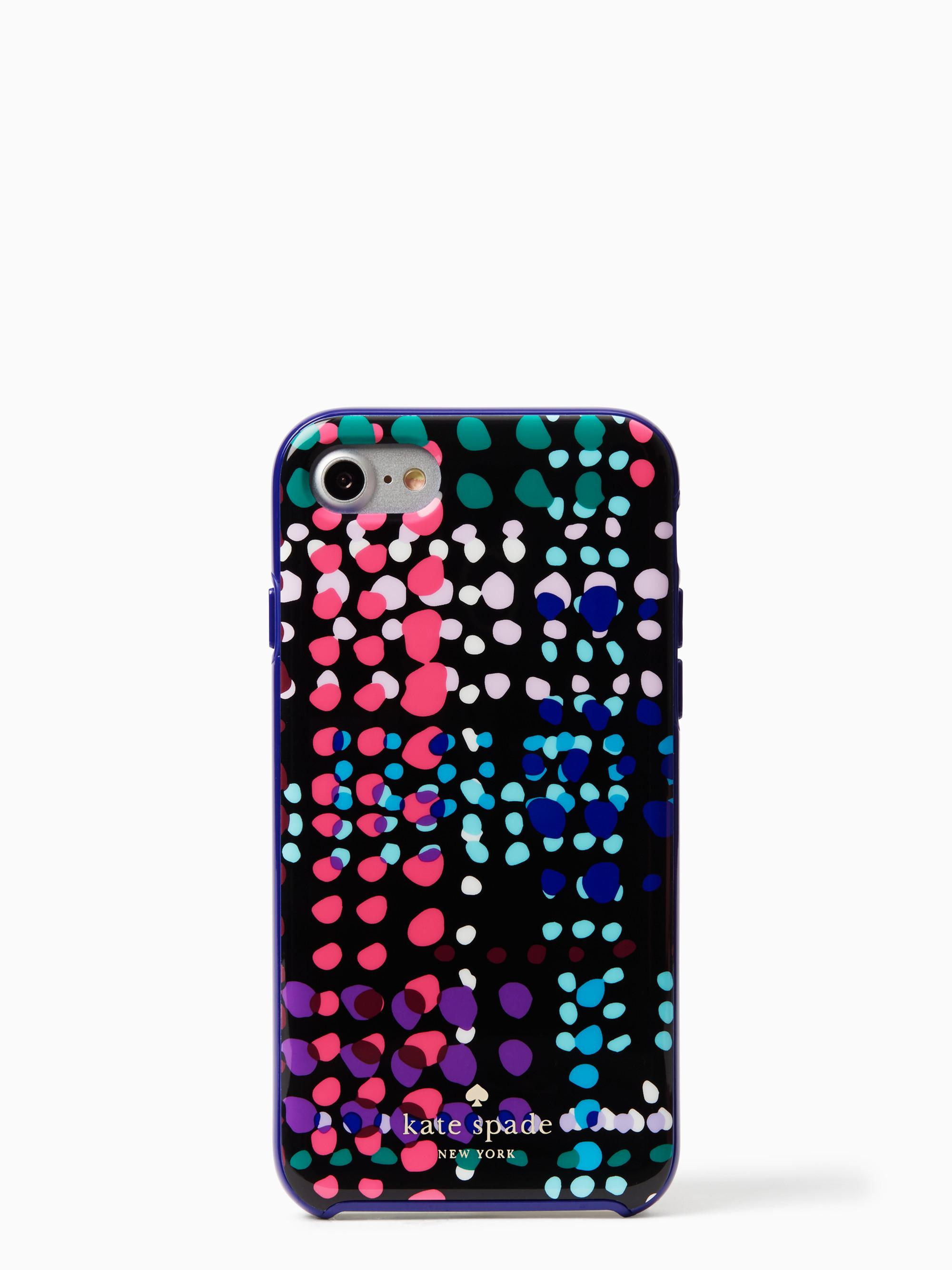 Case Design designer cell phone case : Kate spade Dotty Plaid Iphone 7 Case in Black : Lyst