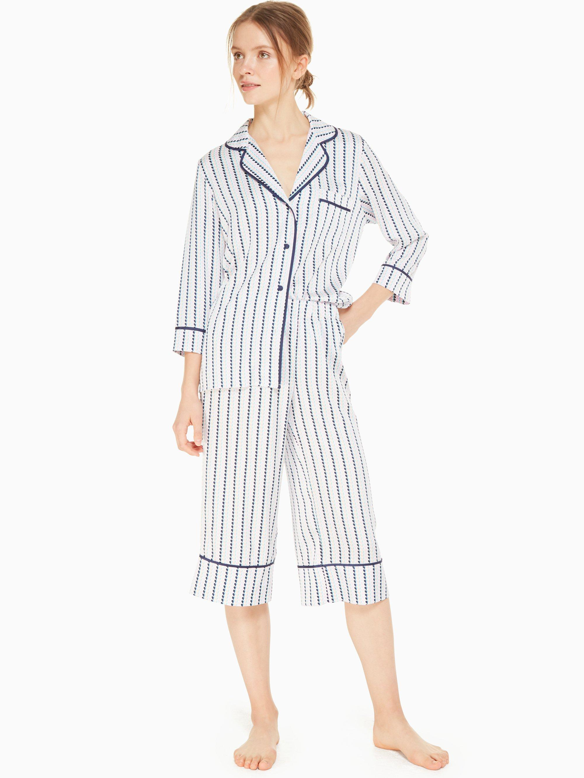 d34cad9e6dce Kate Spade. Women s Blue Charmeuse Cropped Pj Set.  88 From kate spade new  york