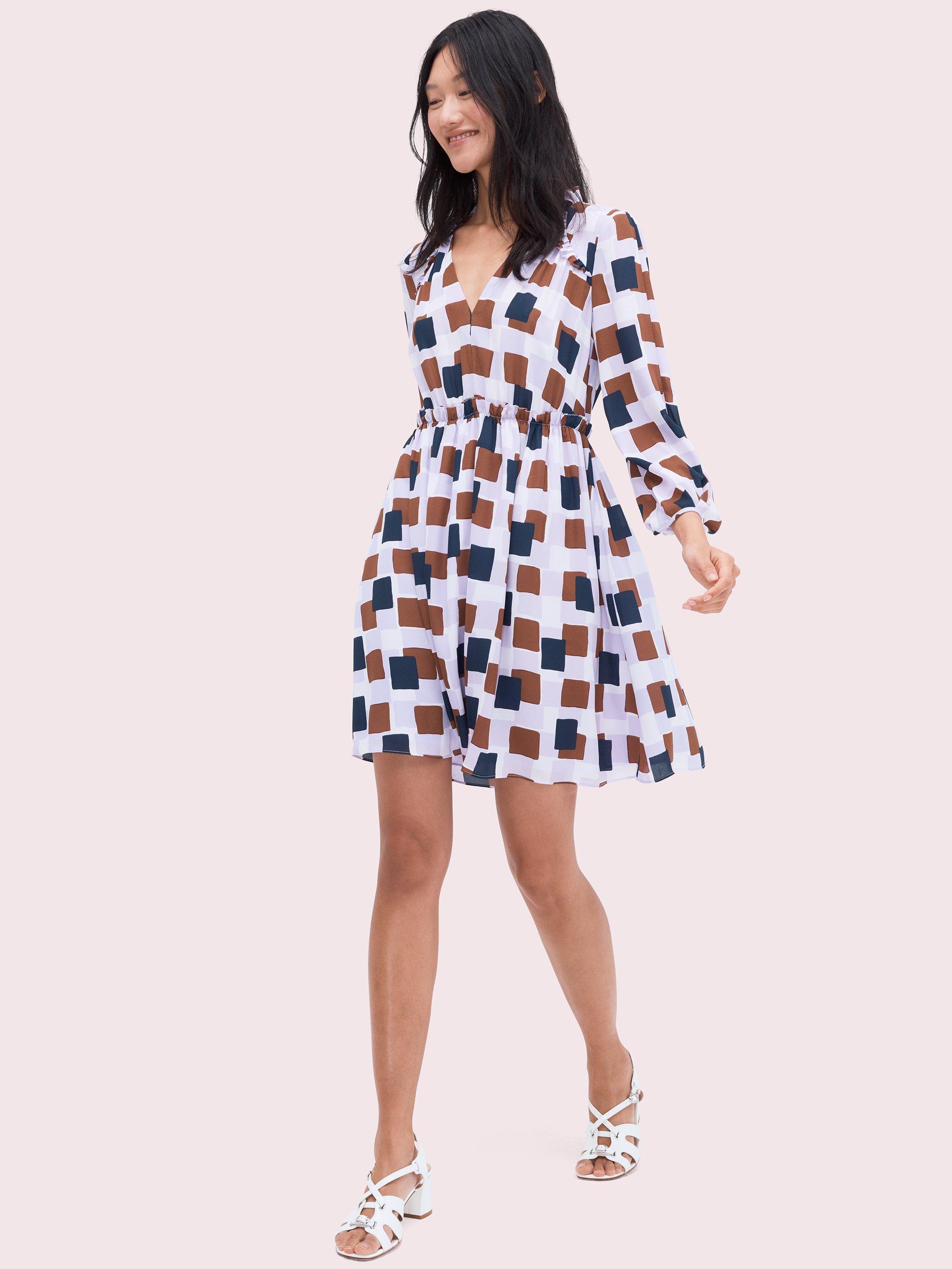 d04f93923844 Kate Spade. Women's Geo Squares Mini Dress