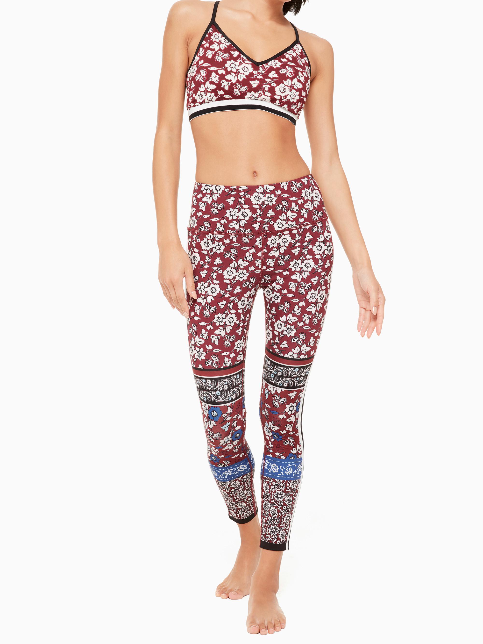 e72b8154ea830 Lyst - Kate Spade Whimsy Bi-stripe Legging in Red