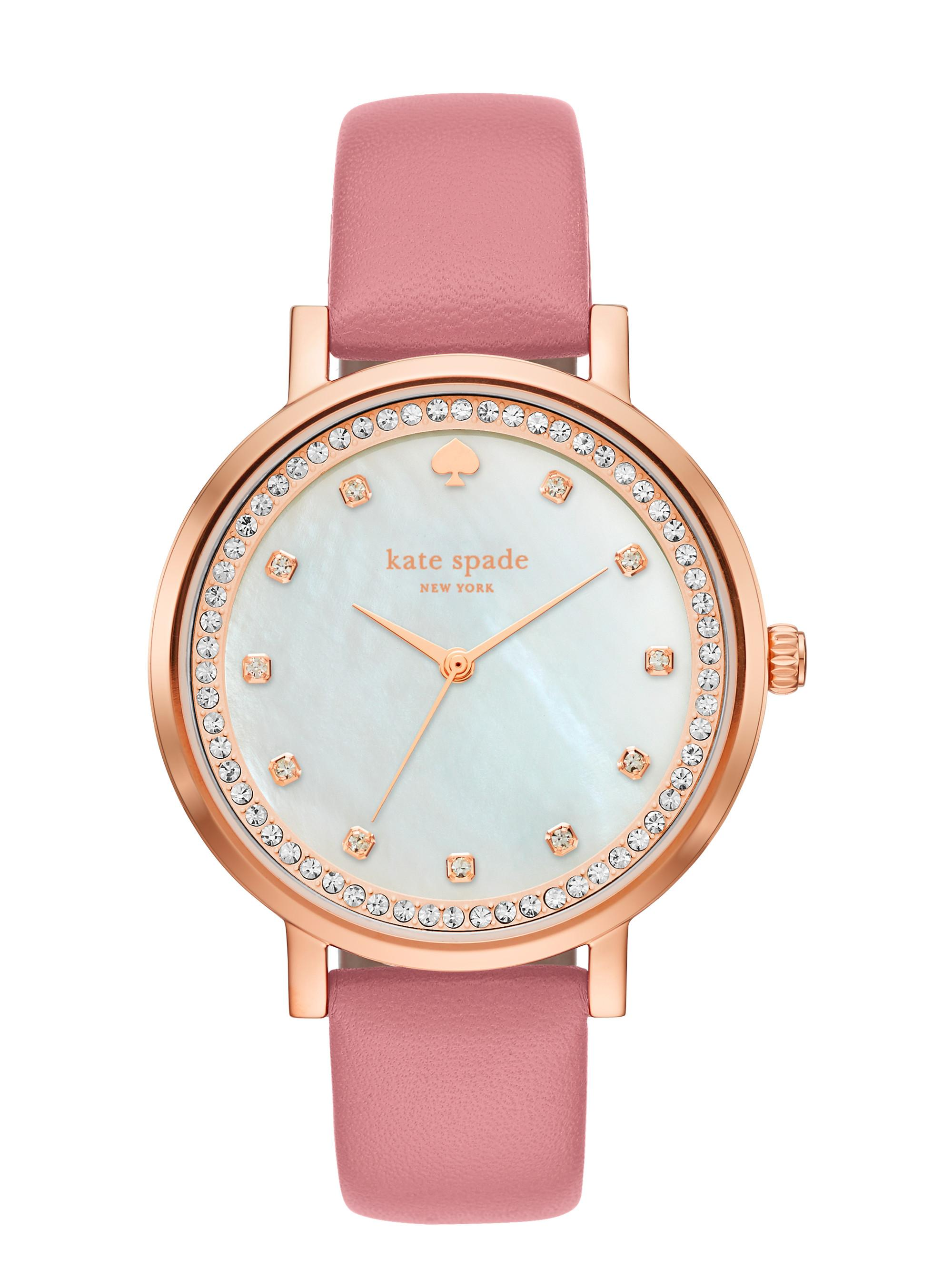 53d20f25448 Lyst - Kate Spade Pave Monterey Watch in Pink