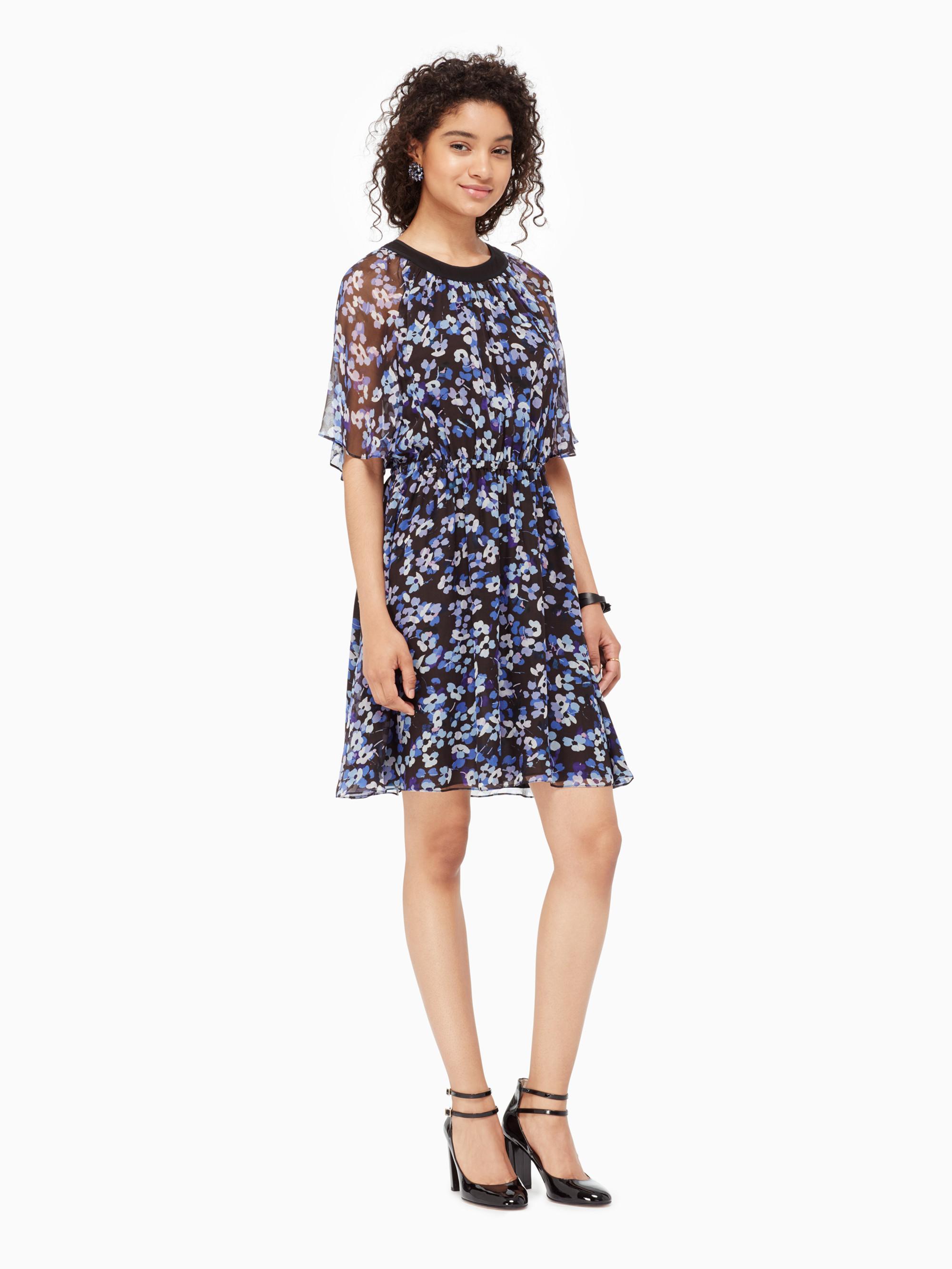 3ceb1771da497 Kate Spade Hydrangea Chiffon Dress in Black - Lyst
