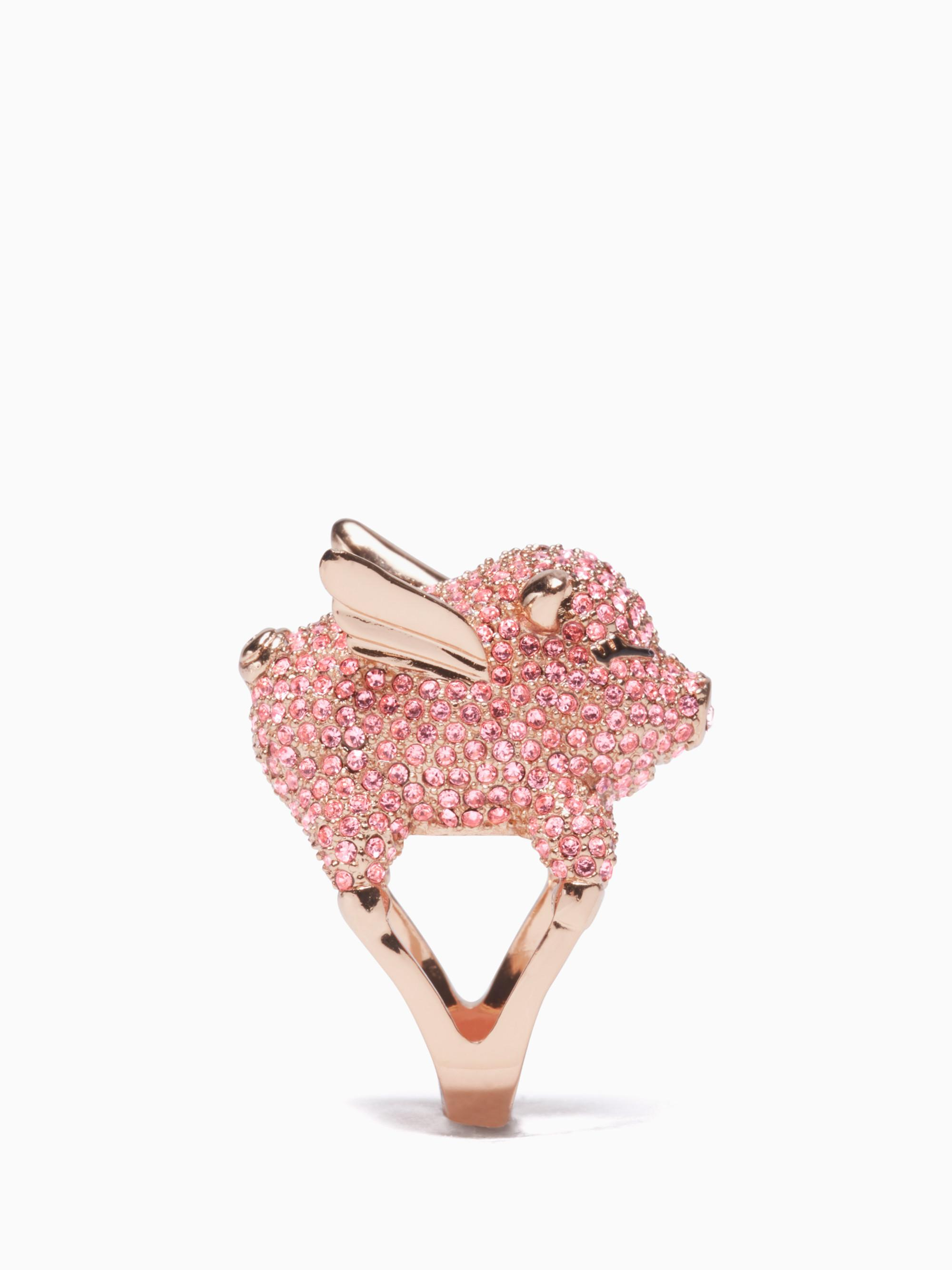 Lyst - Kate Spade New York Imagination Pave Pig Ring in Pink