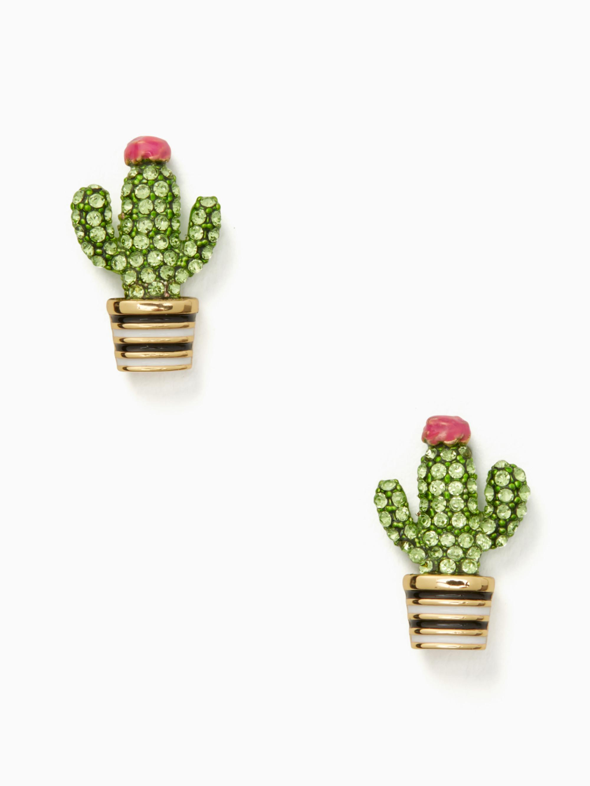 Lyst Kate Spade Scenic Route Cactus Studs