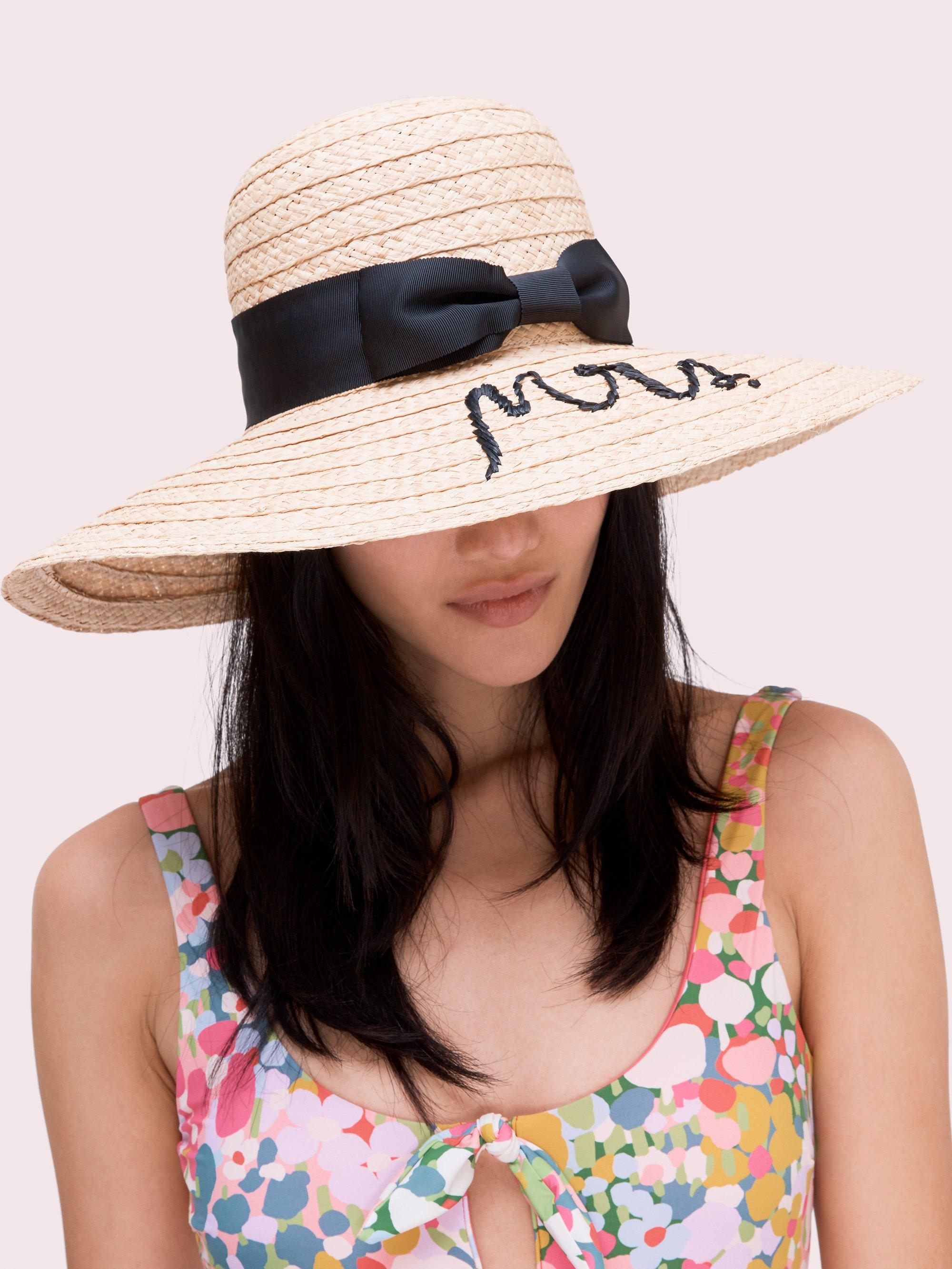 30dfb7c27b0c7 Lyst - Kate Spade Mrs Sunhat in Natural