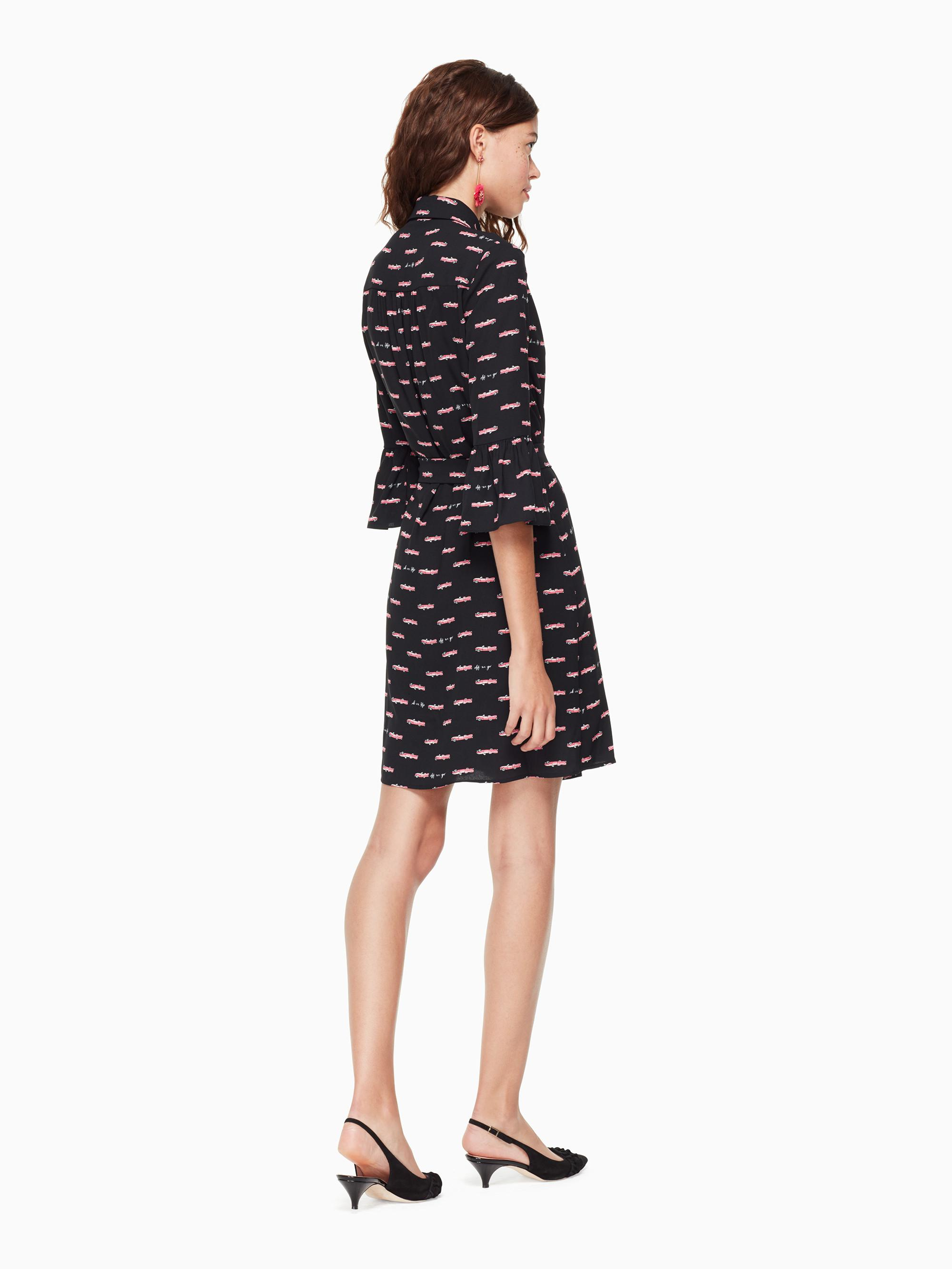Lyst - Kate Spade Hot Rod Shirtdress in Black