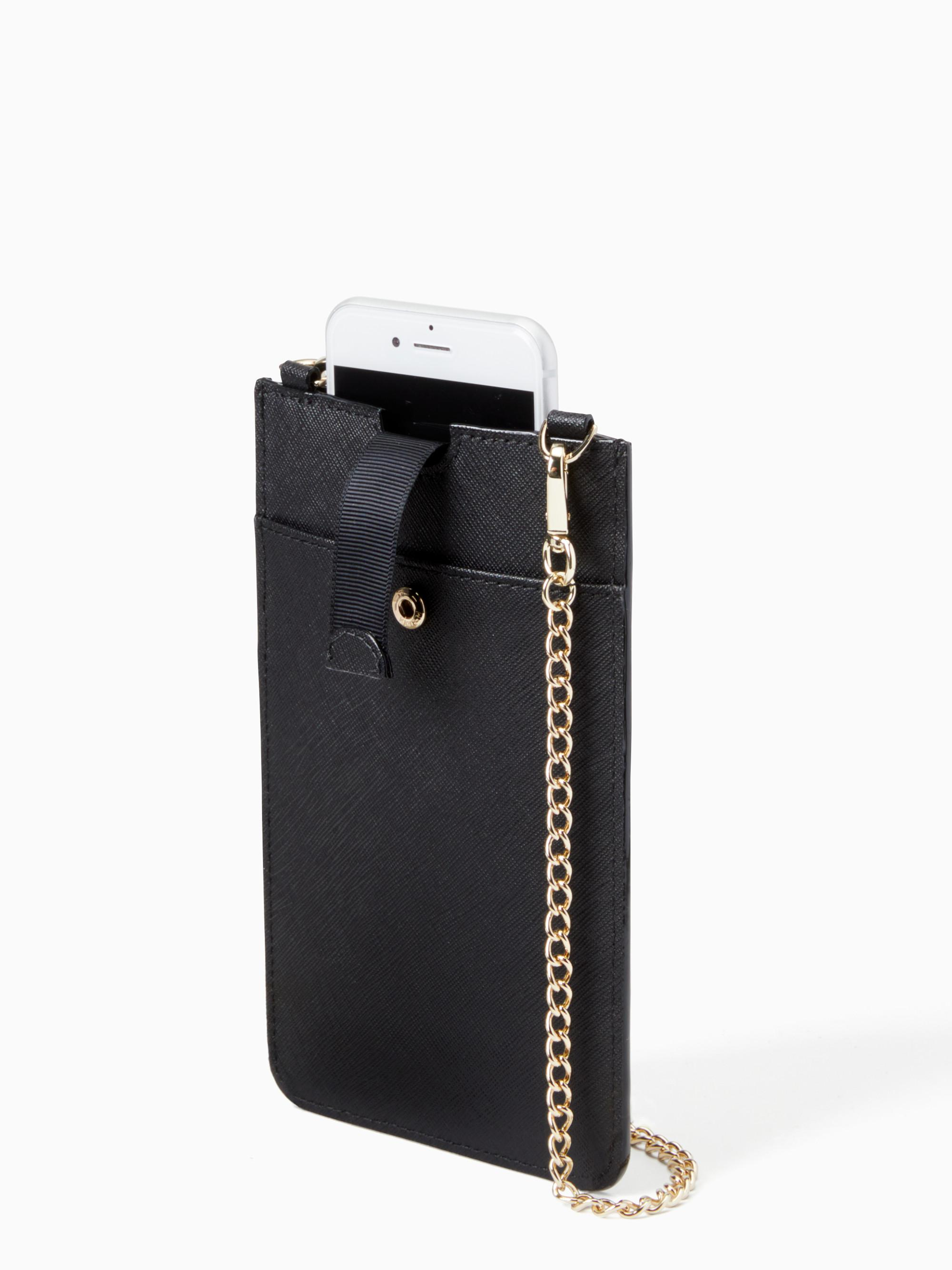 Lyst - Kate Spade Antoine Iphone Sleeve Crossbody in Black 57b6f2eb53808