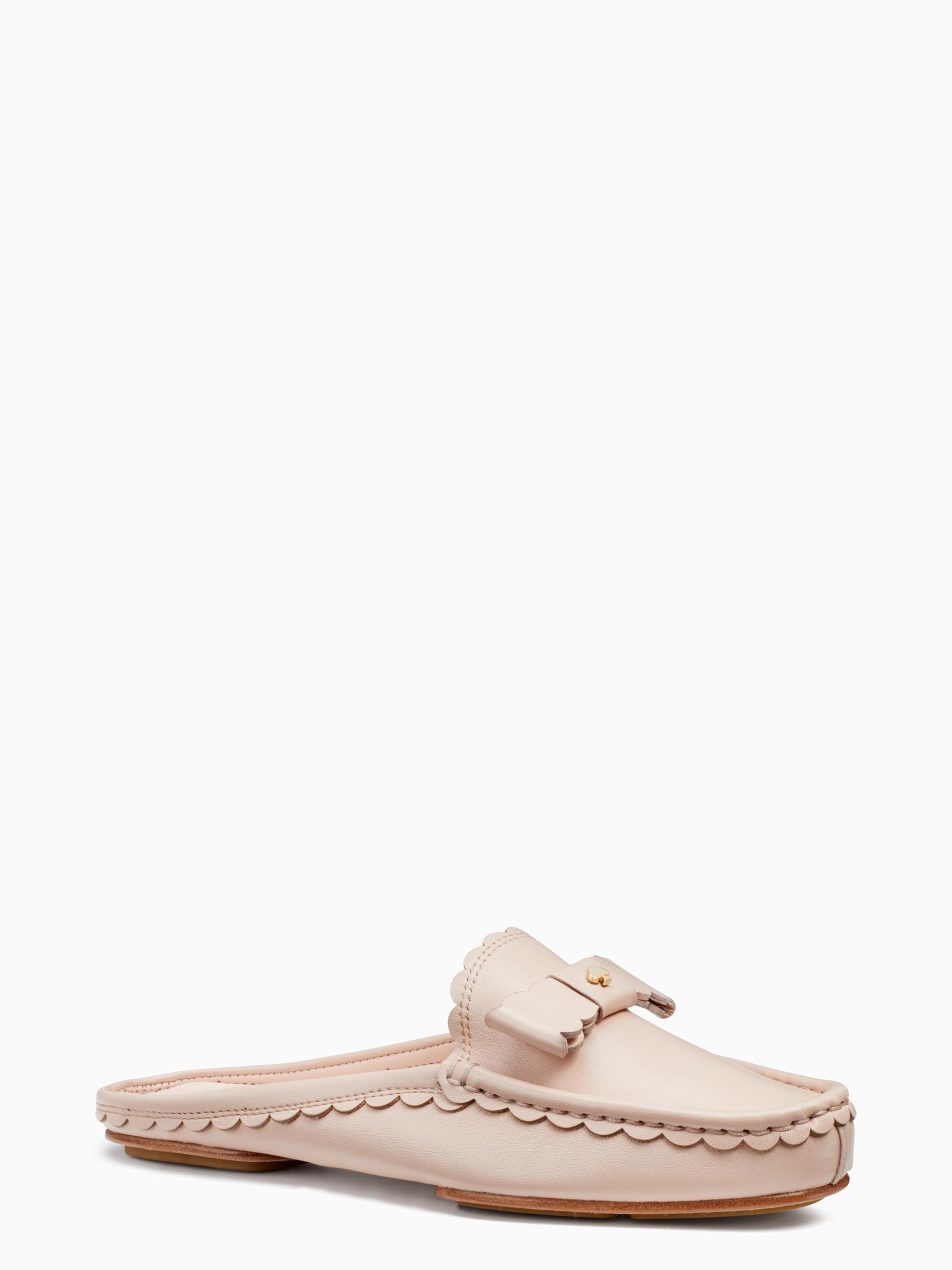 kate spade new york Maggie Scallop and Bow Detail Mules ChtSyGMl