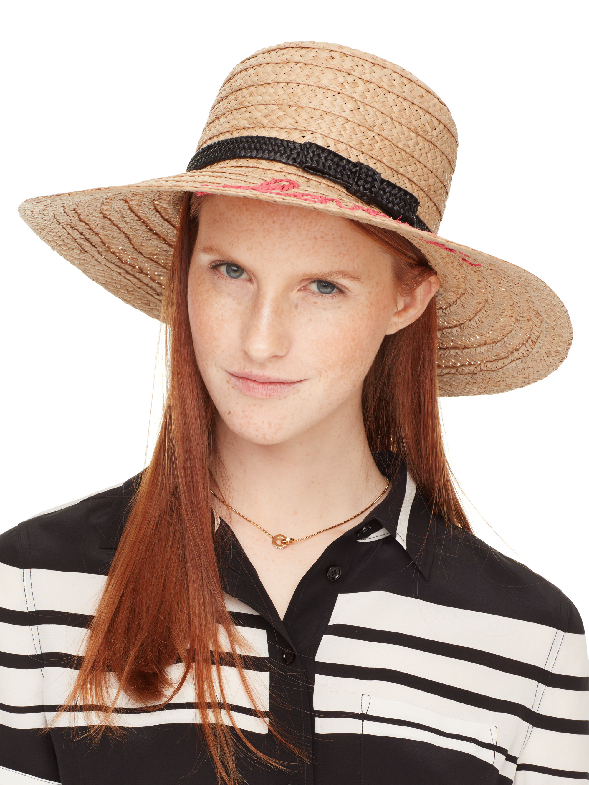 45c5bb7d49391 Kate Spade New York Embroidered Lovely Sunhat in Natural - Lyst