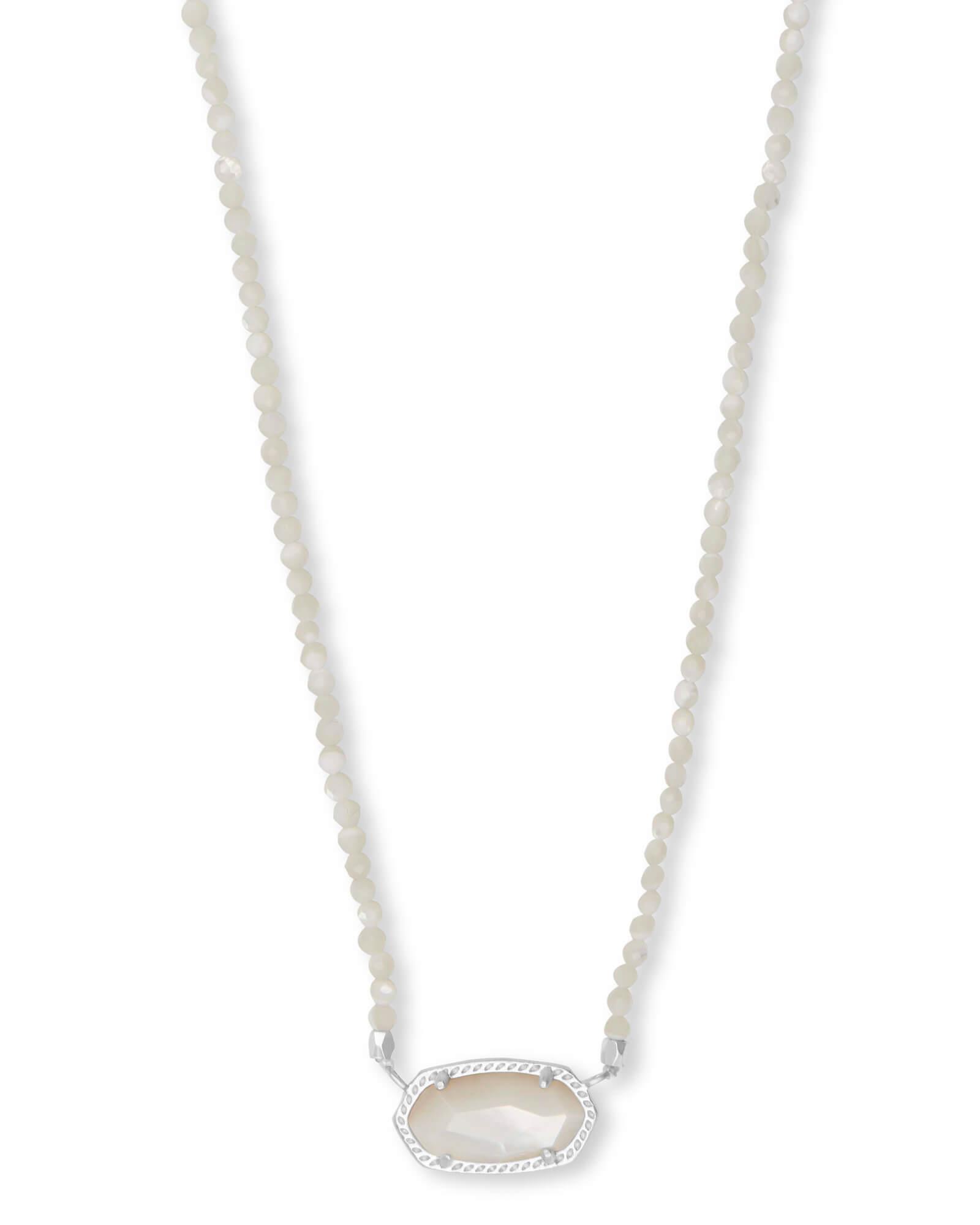 03e01bdd4 Lyst - Kendra Scott Elisa Silver Beaded Pendant Necklace in Metallic