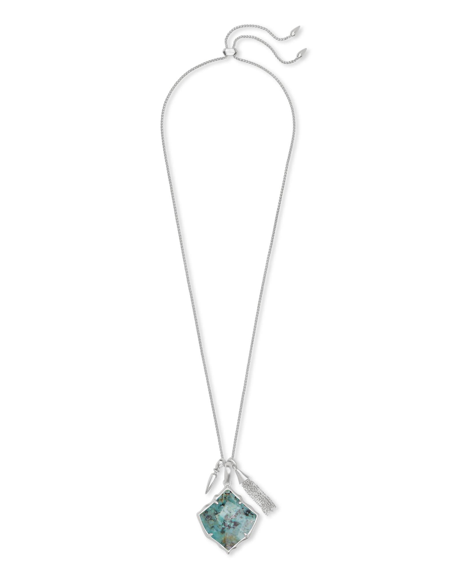eef283771 Kendra Scott Arlet Silver Pendant Necklace In African Turquoise in ...