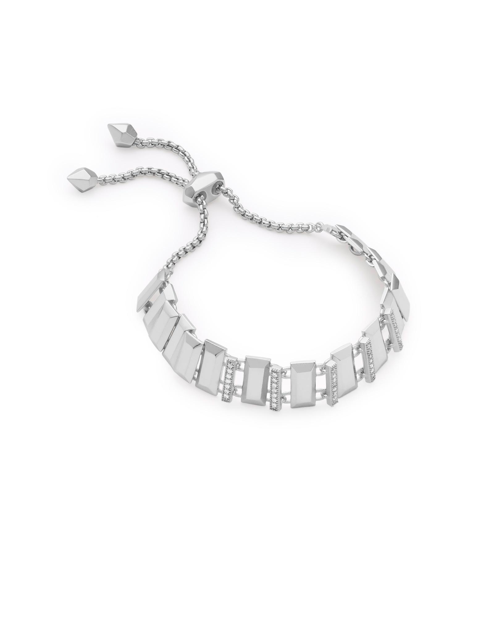 c3ef0209838474 Lyst - Kendra Scott Harp Adjustable Chain Bracelet In Silver in Metallic