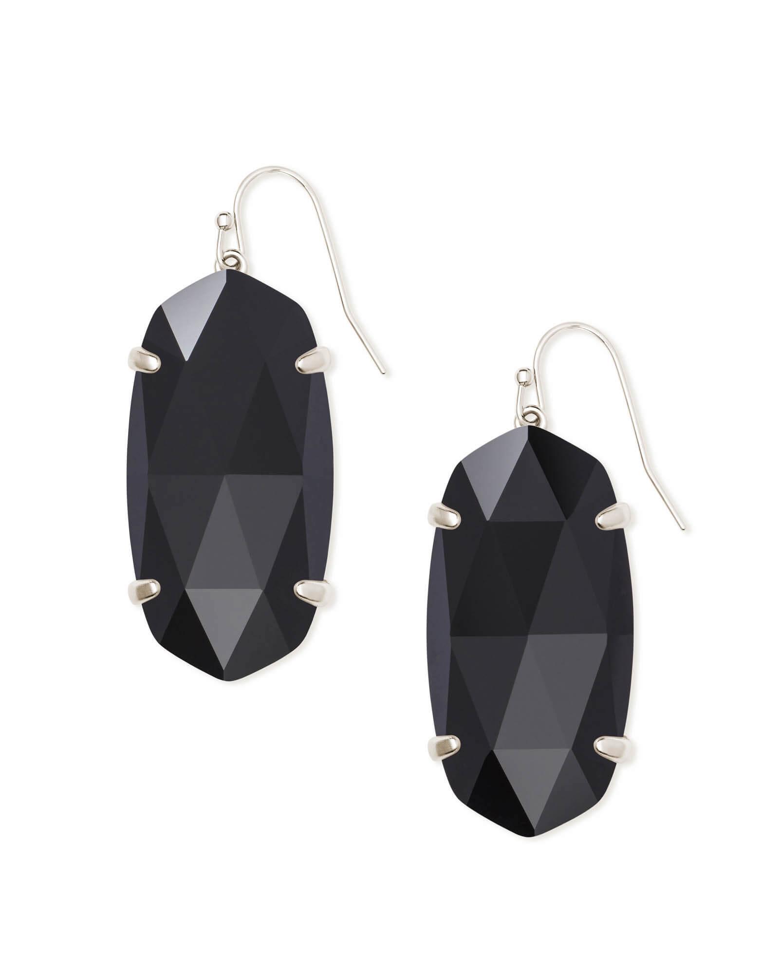 2a77121de Lyst - Kendra Scott Esme Silver Drop Earrings in Black