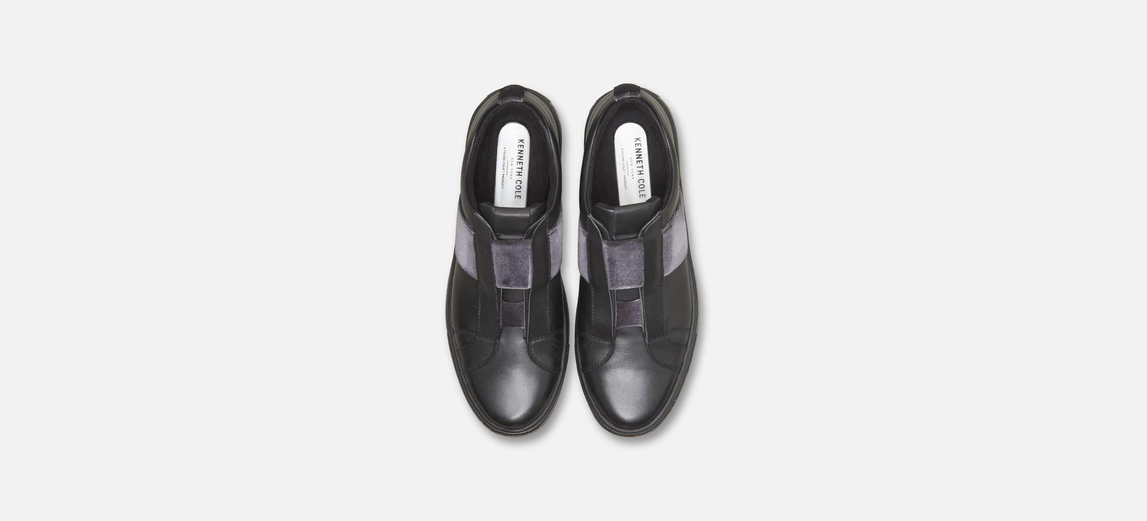 a01aa8f1a8857 Lyst - Kenneth Cole Colvin Slip-on Leather Sneaker With Velvet Strap ...