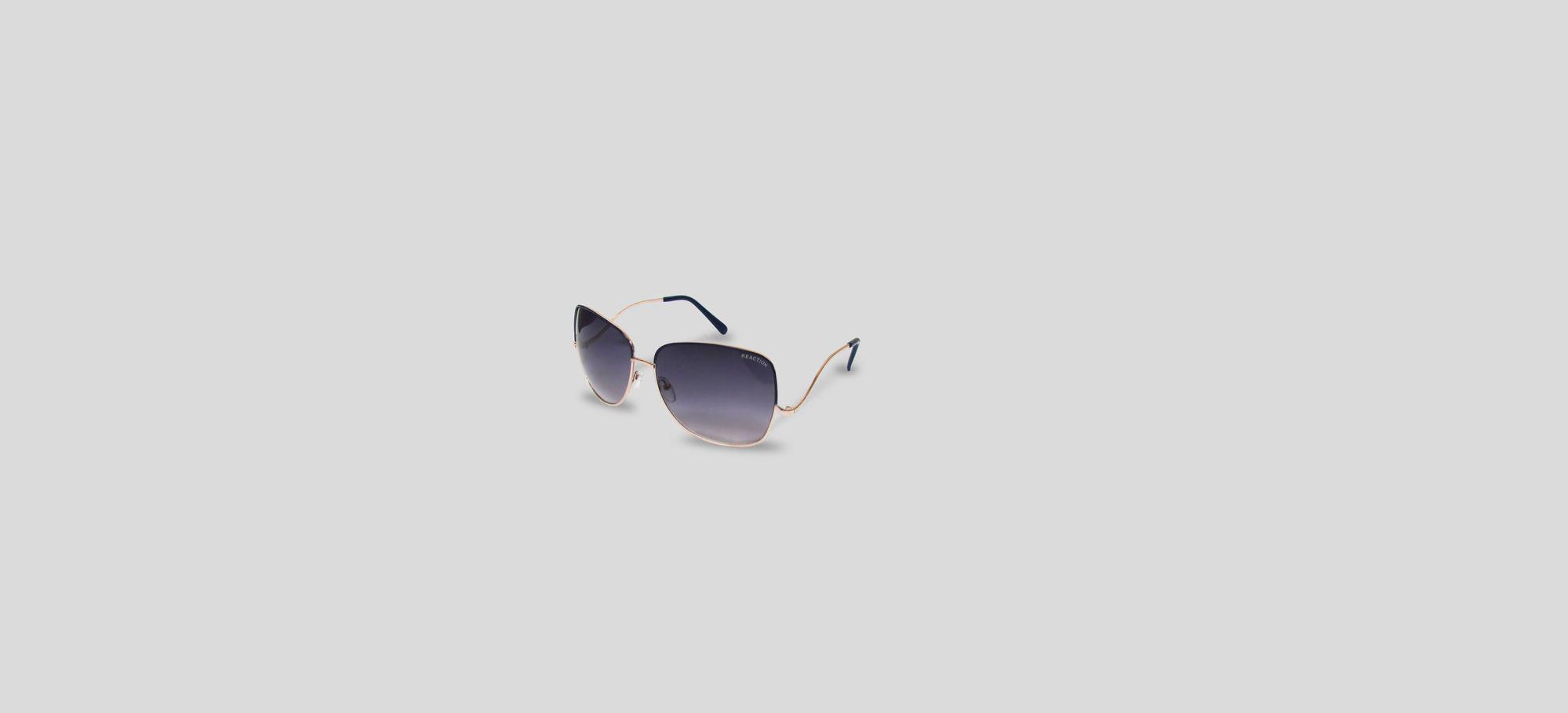 Shiny Black Fashion Cat Eye Sunglasses Kenneth Cole Reaction abyC4a2e
