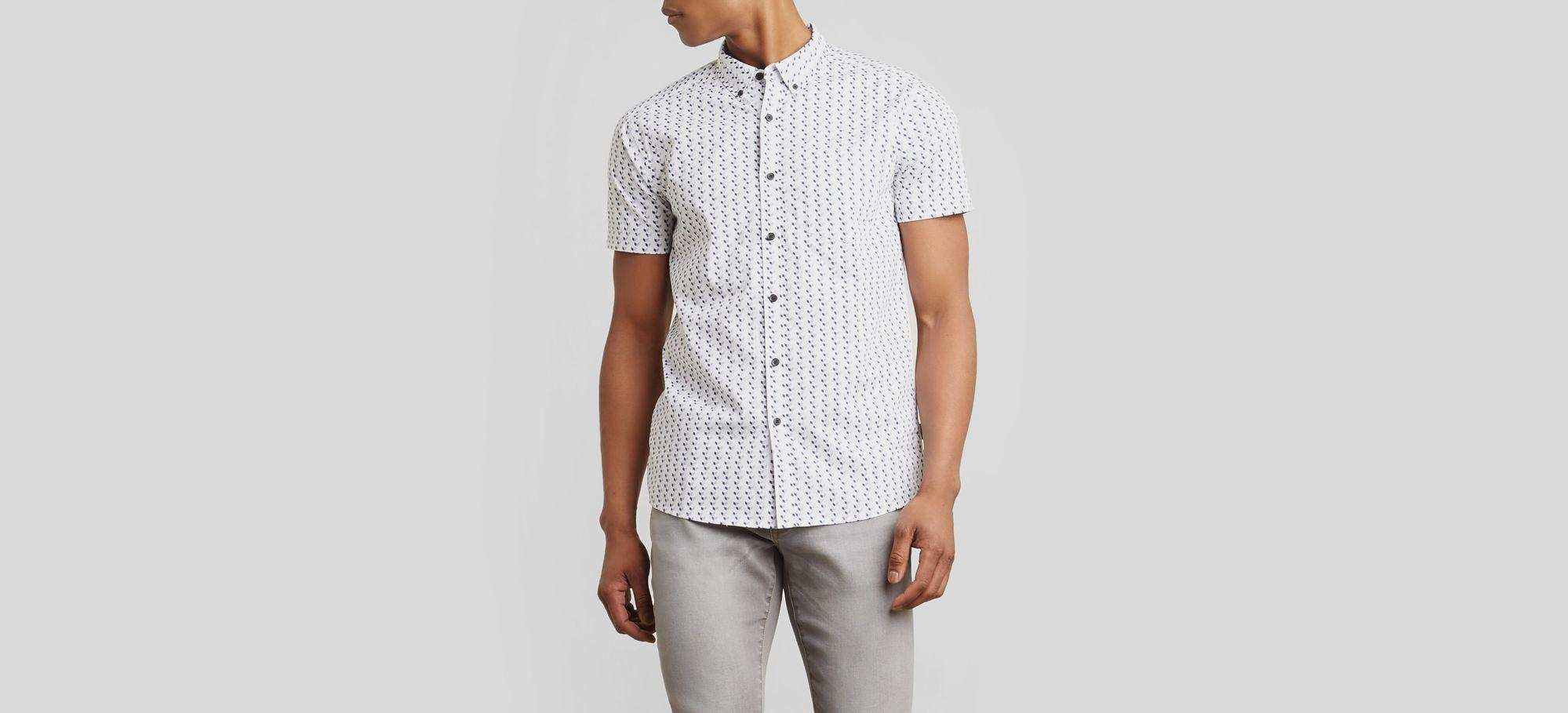 Short-Sleeve Wave Print Shirt Kenneth Cole Reaction Discount Purchase Nicekicks For Sale Shop Cheap Online Discount Authentic Discount Choice hZgztWjbe