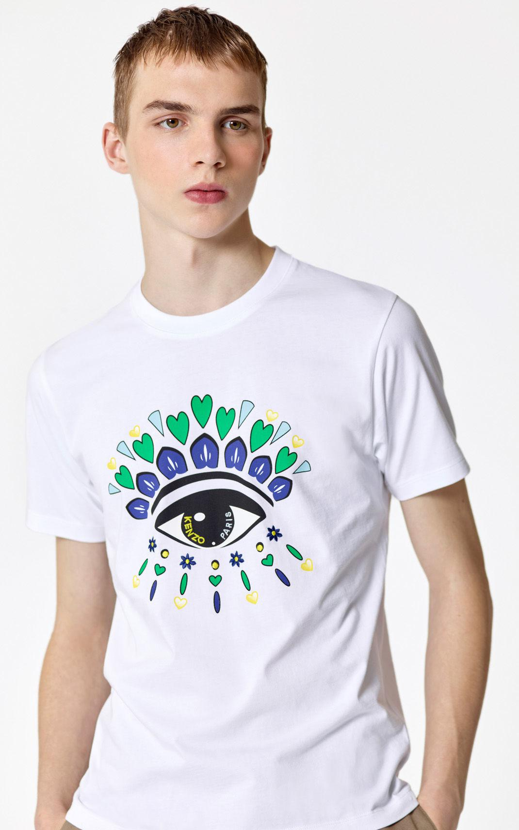 1cb92d3d28 KENZO 'valentine's Day Capsule' Eye T-shirt in White for Men - Lyst