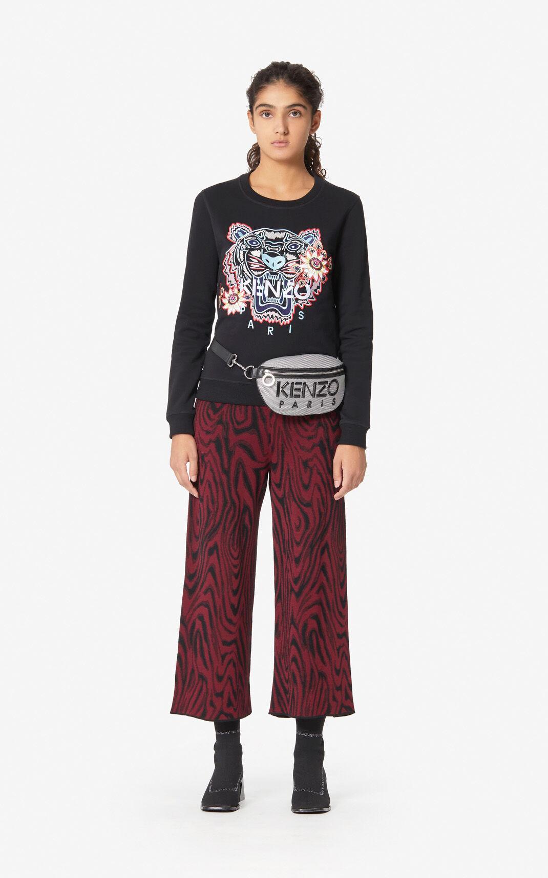 29bea9e2cd KENZO 'passion Flower' Tiger Sweatshirt in Black - Lyst