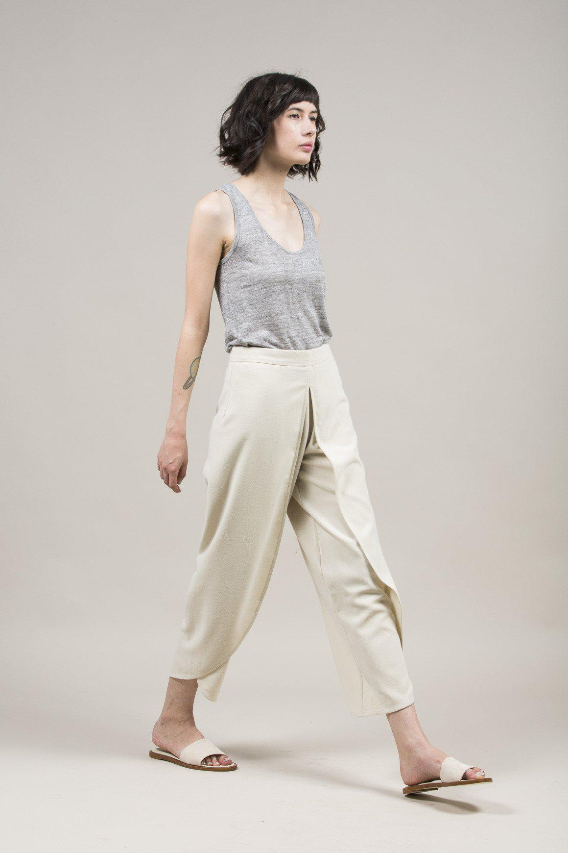 567256d7280e3 Lyst - Rodebjer Nala Crepe Trousers in Natural