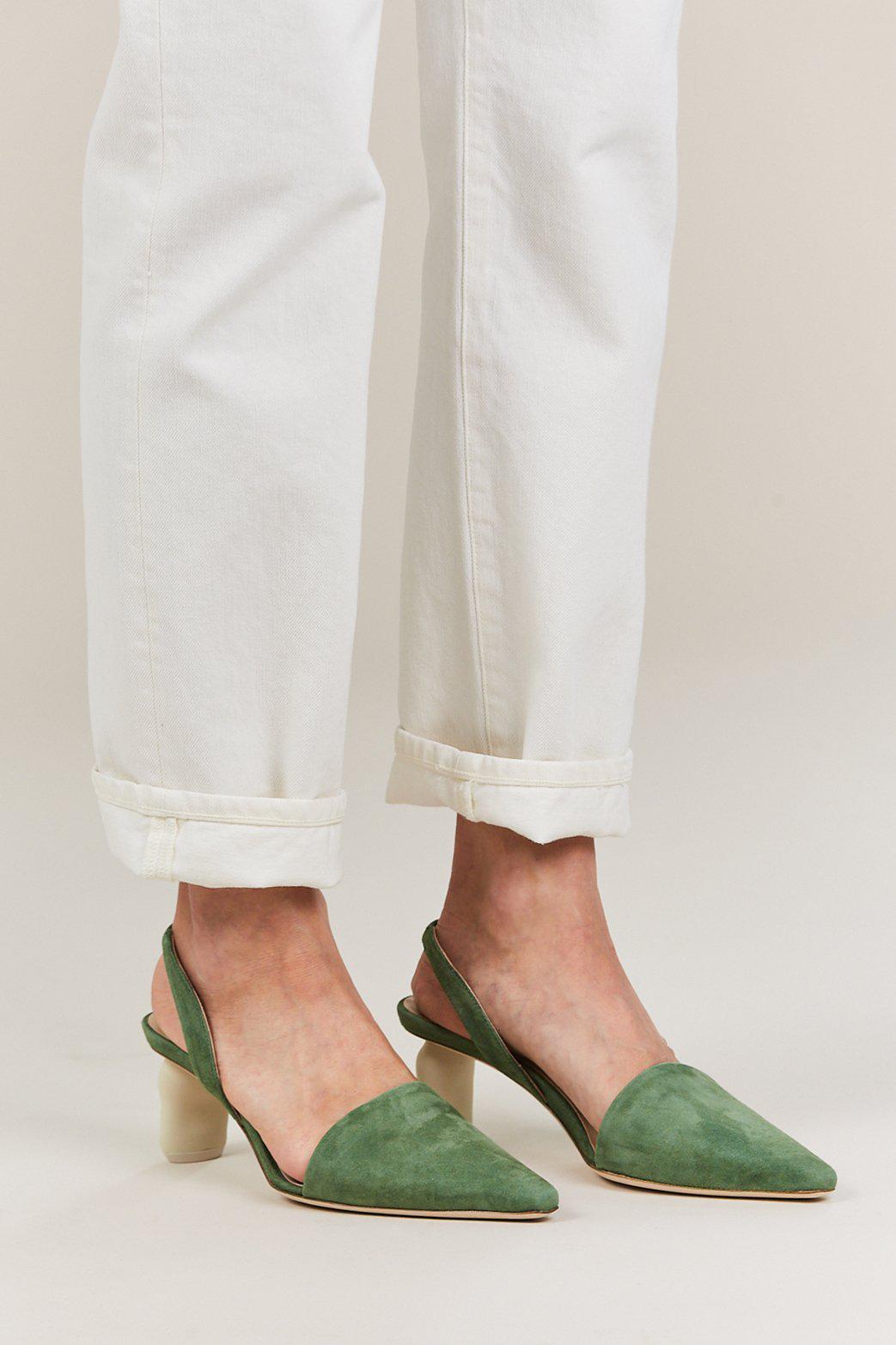 51e0ee97b4 Rejina Pyo Conie Slingback Heel in Green - Lyst