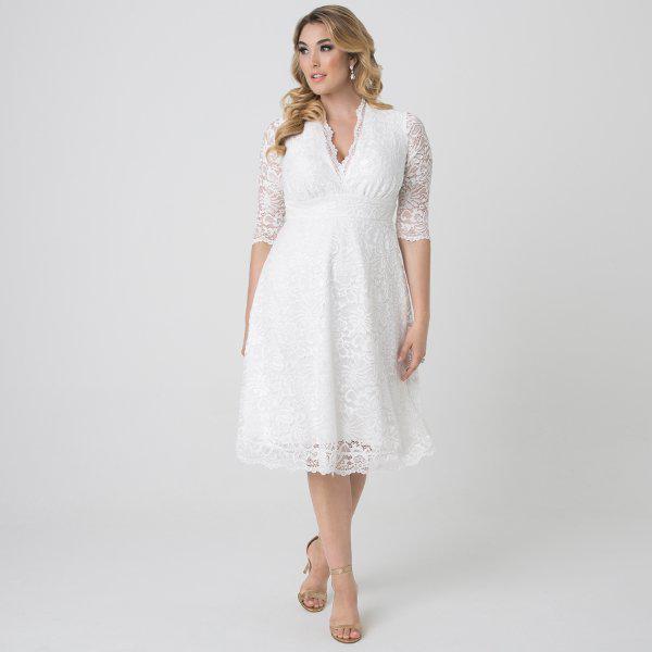 0888b59e517f8 Kiyonna - White Wedding Belle Dress - Lyst. View fullscreen