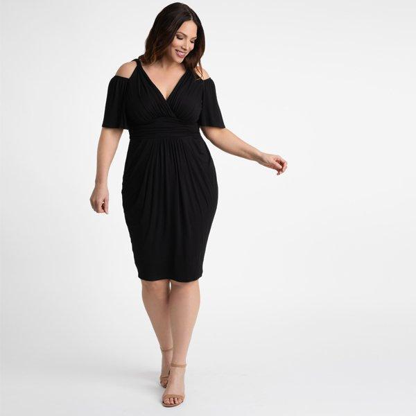 d8e1e918438 Kiyonna - Black Tantalizing Twist Dress - Lyst. View fullscreen