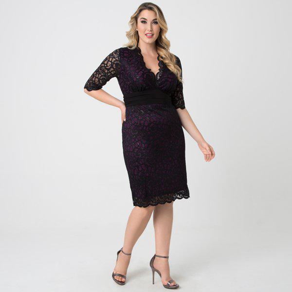 ca788a5d68e Kiyonna - Black Lumiere Lace Dress - Lyst. View fullscreen