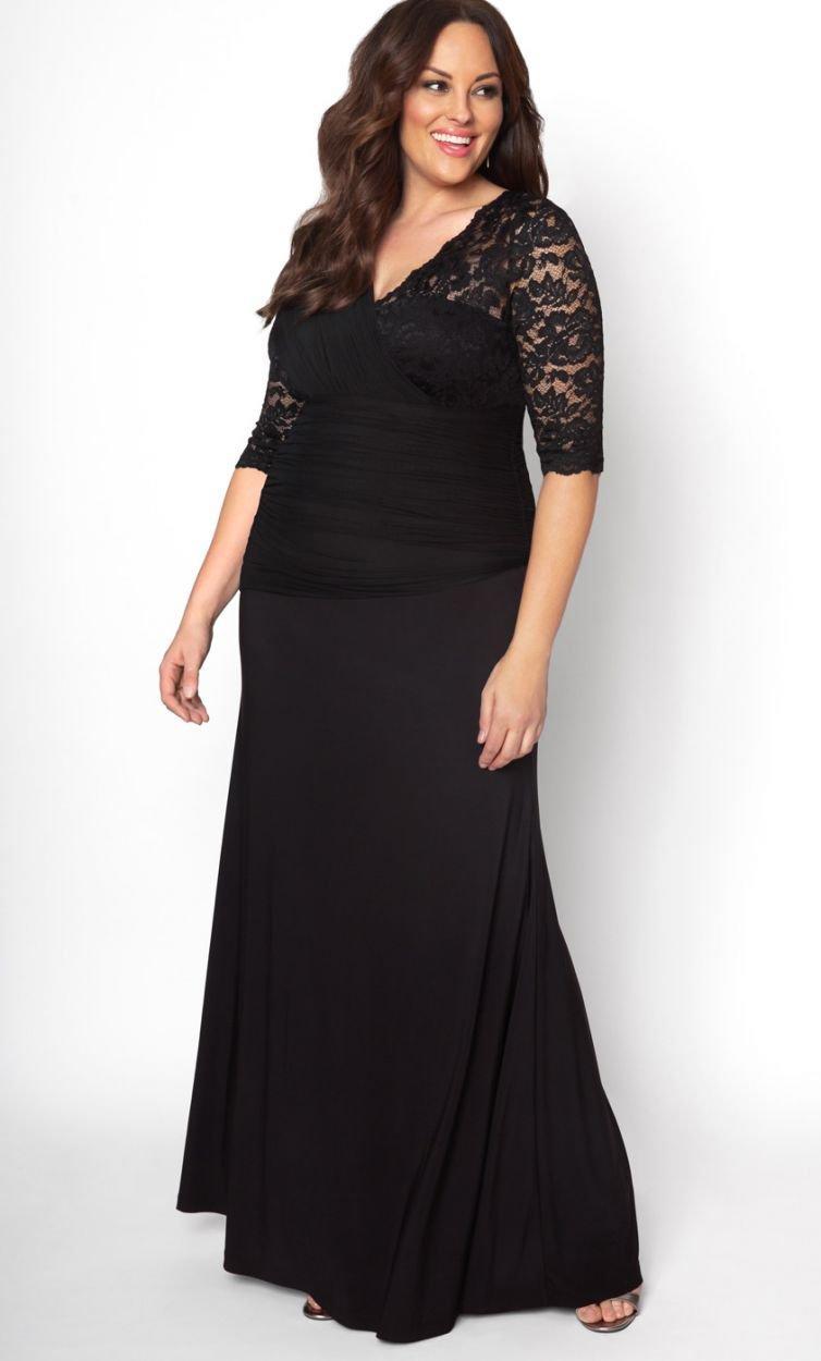 46702785b81e Kiyonna - Black Soiree Evening Gown - Lyst. View fullscreen