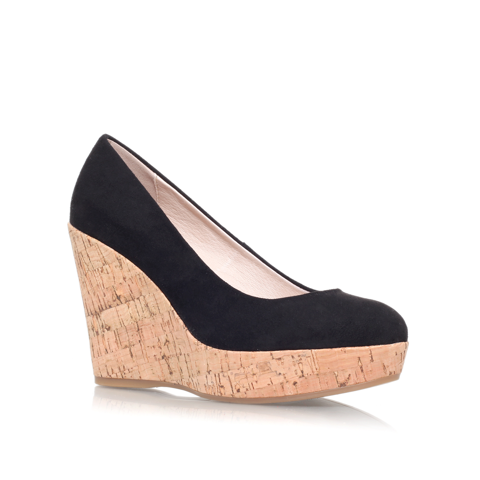 carvela kurt geiger attend wedge heeled court shoes in