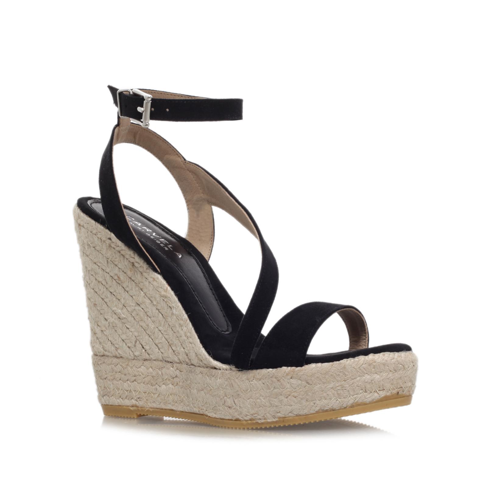 064e7a25f1 Carvela Kurt Geiger Klassy High Wedge Heel Strappy Sandals in Black ...